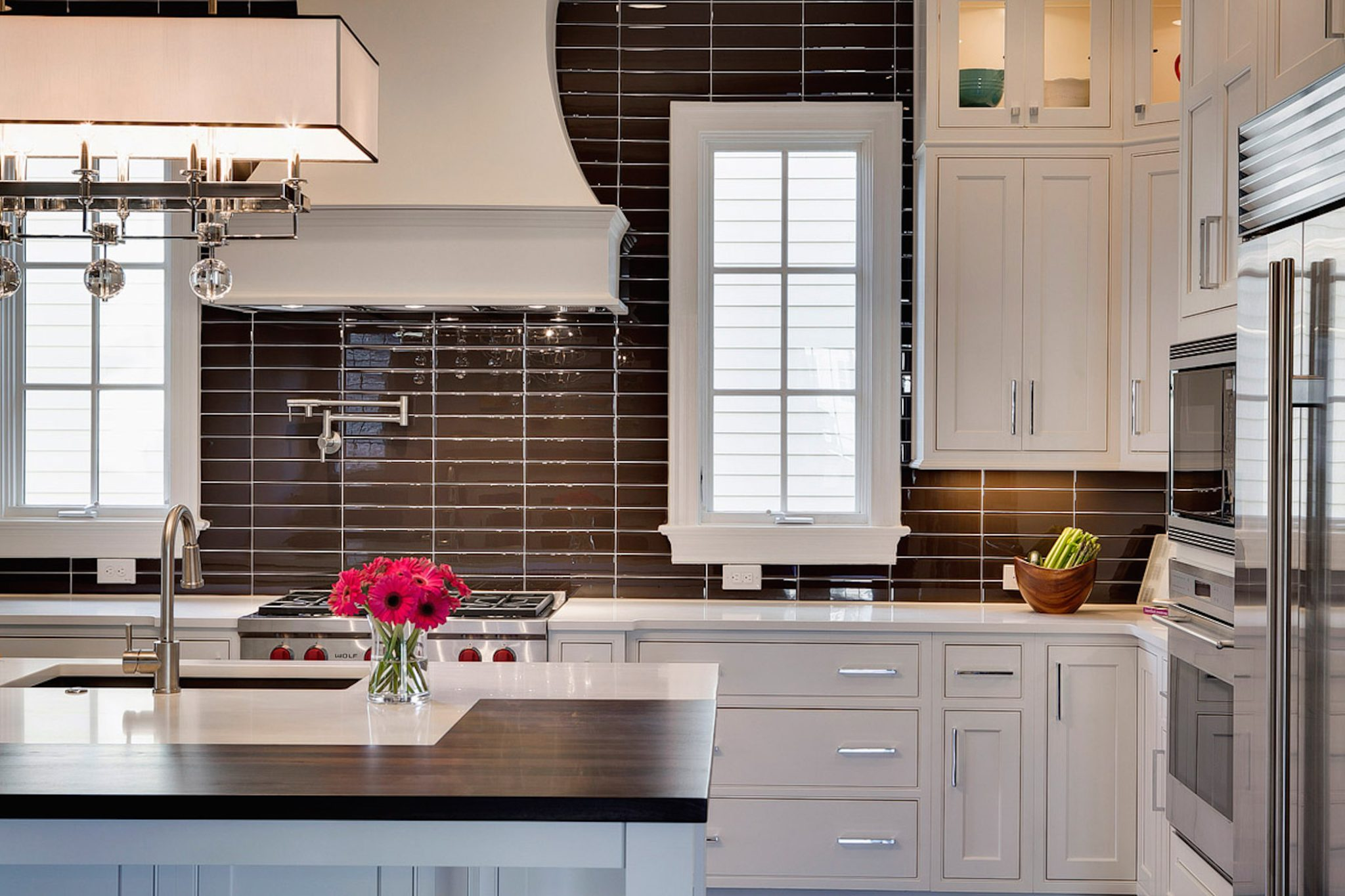 High Contrast Kitchen by MA Allen Interiors