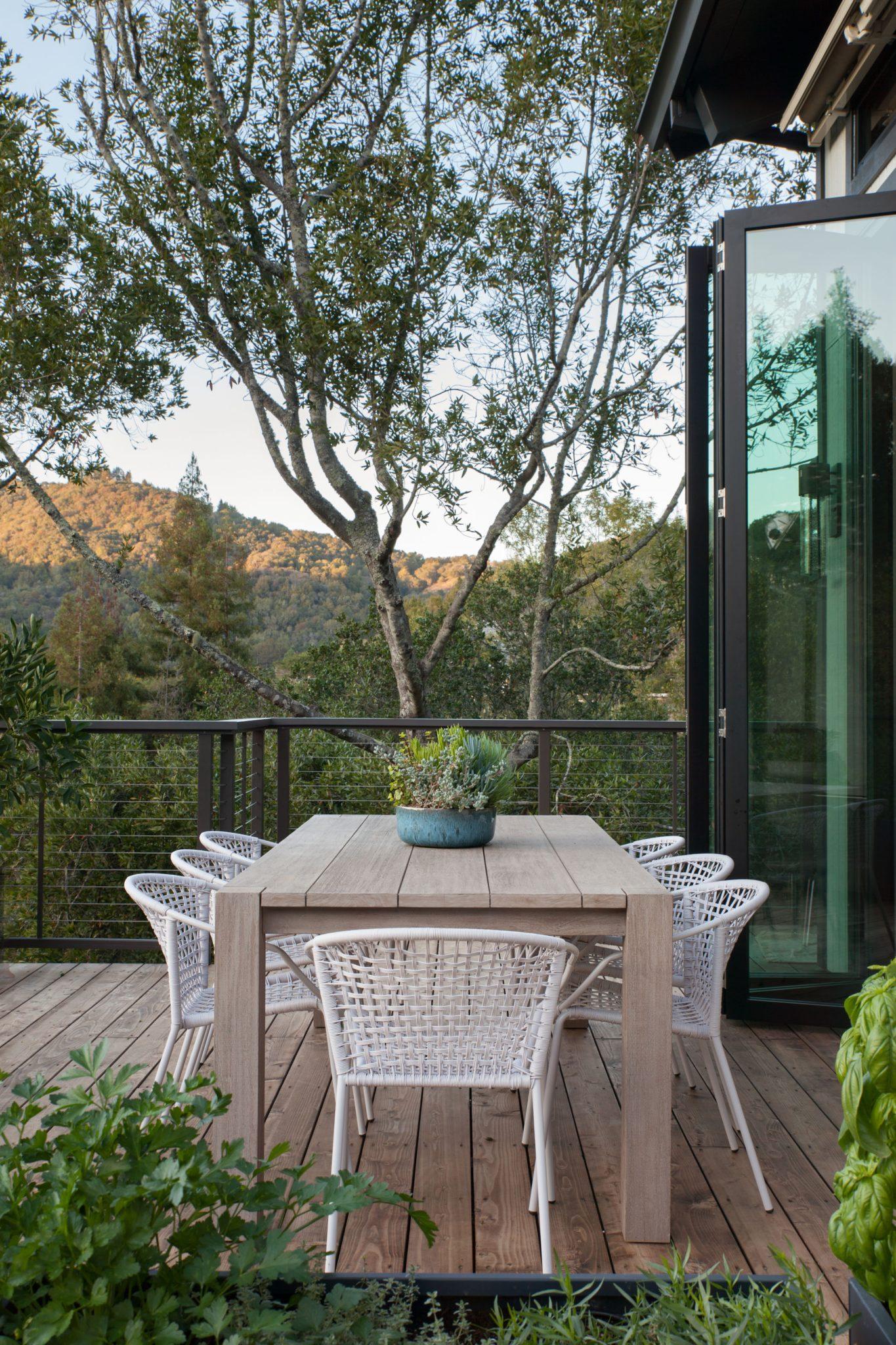 Hillside modern home in Mill Valley, California,by Elena Calabrese Design & Decor