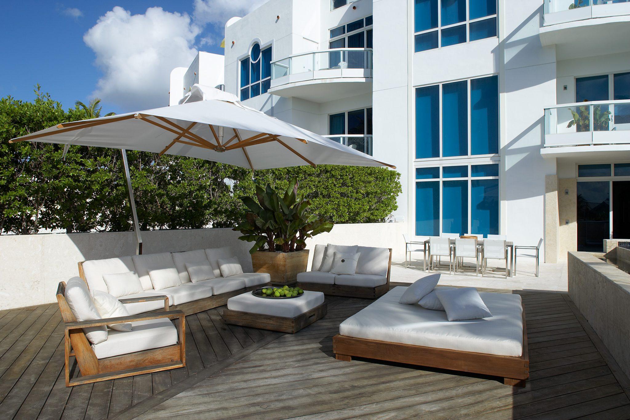Miami Beach townhouse patioby Magdalena Keck Interior Design