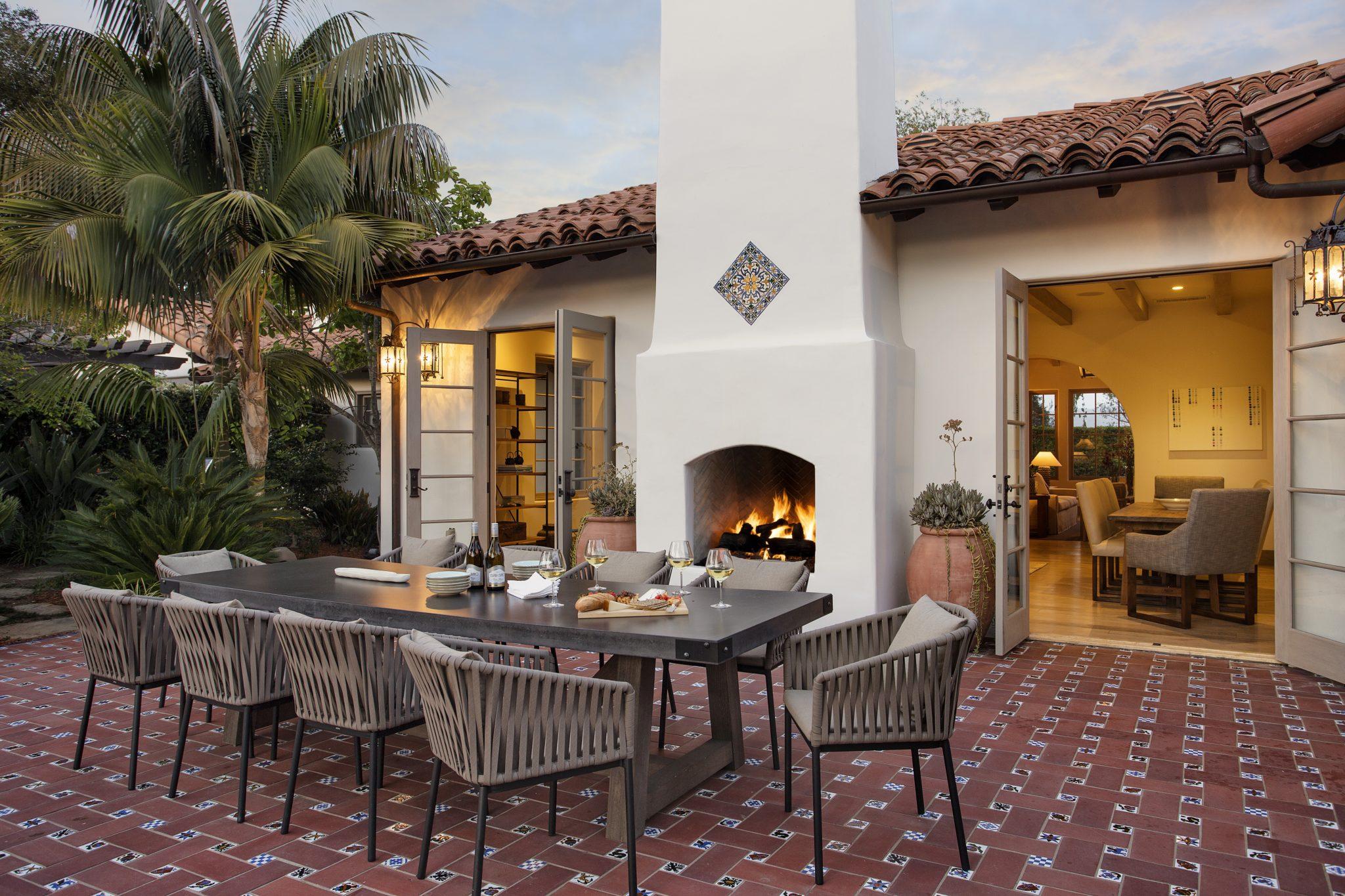 Montecito outdoor living space by Della + Zella Interiors