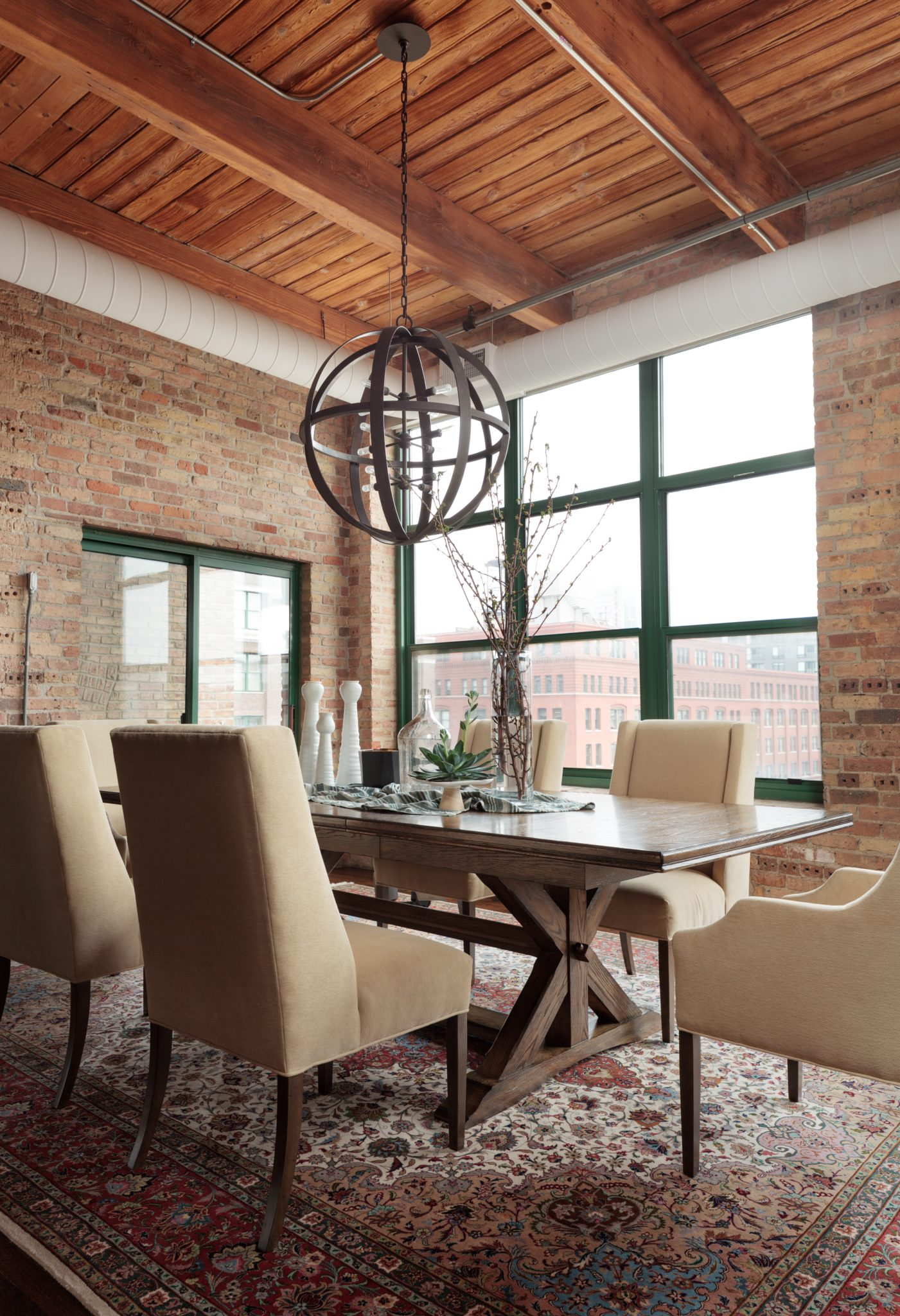 Chicago loft dining space by CK Interior Design