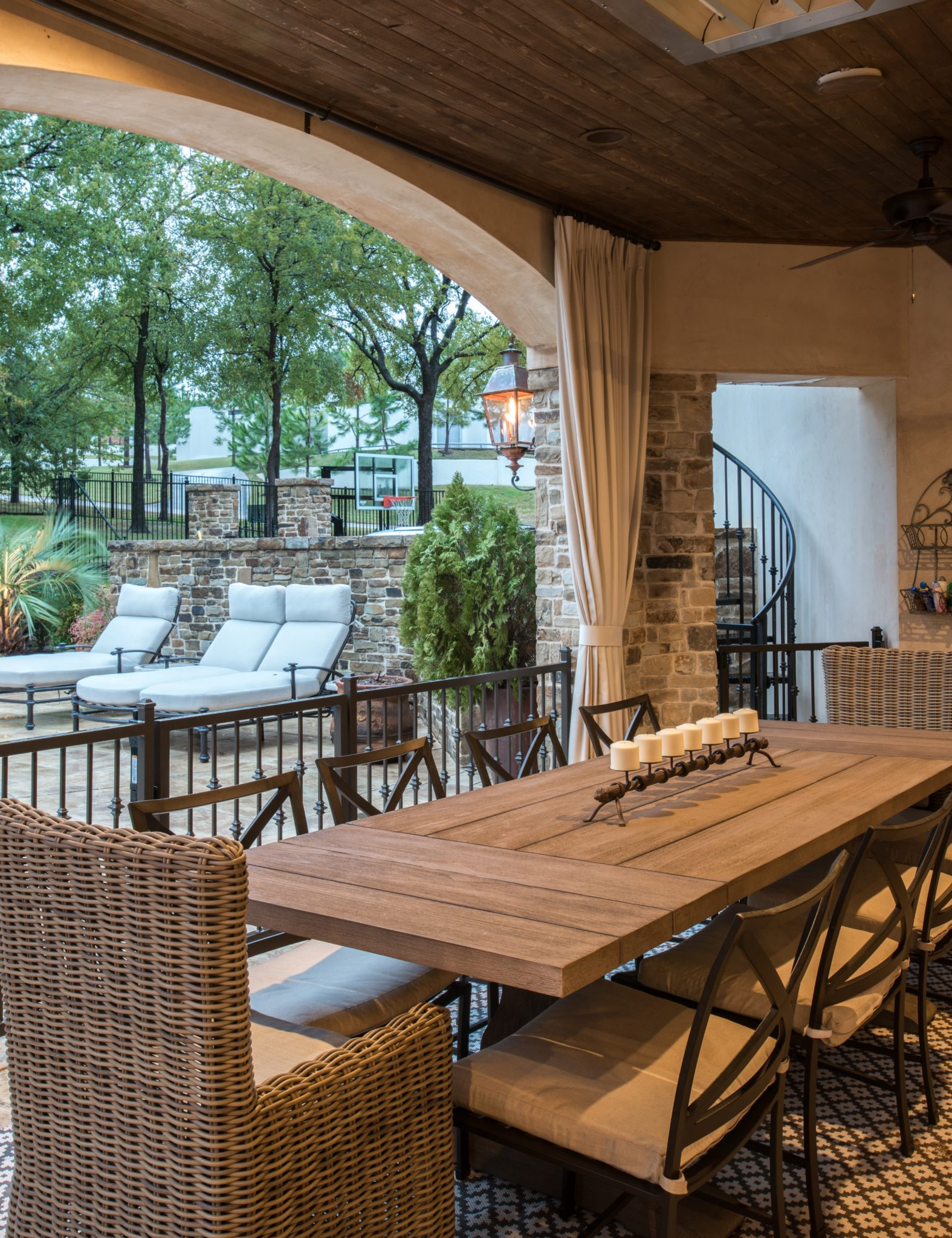 Refreshed French residence withoutdoor dining by Allison Seidler Interiors