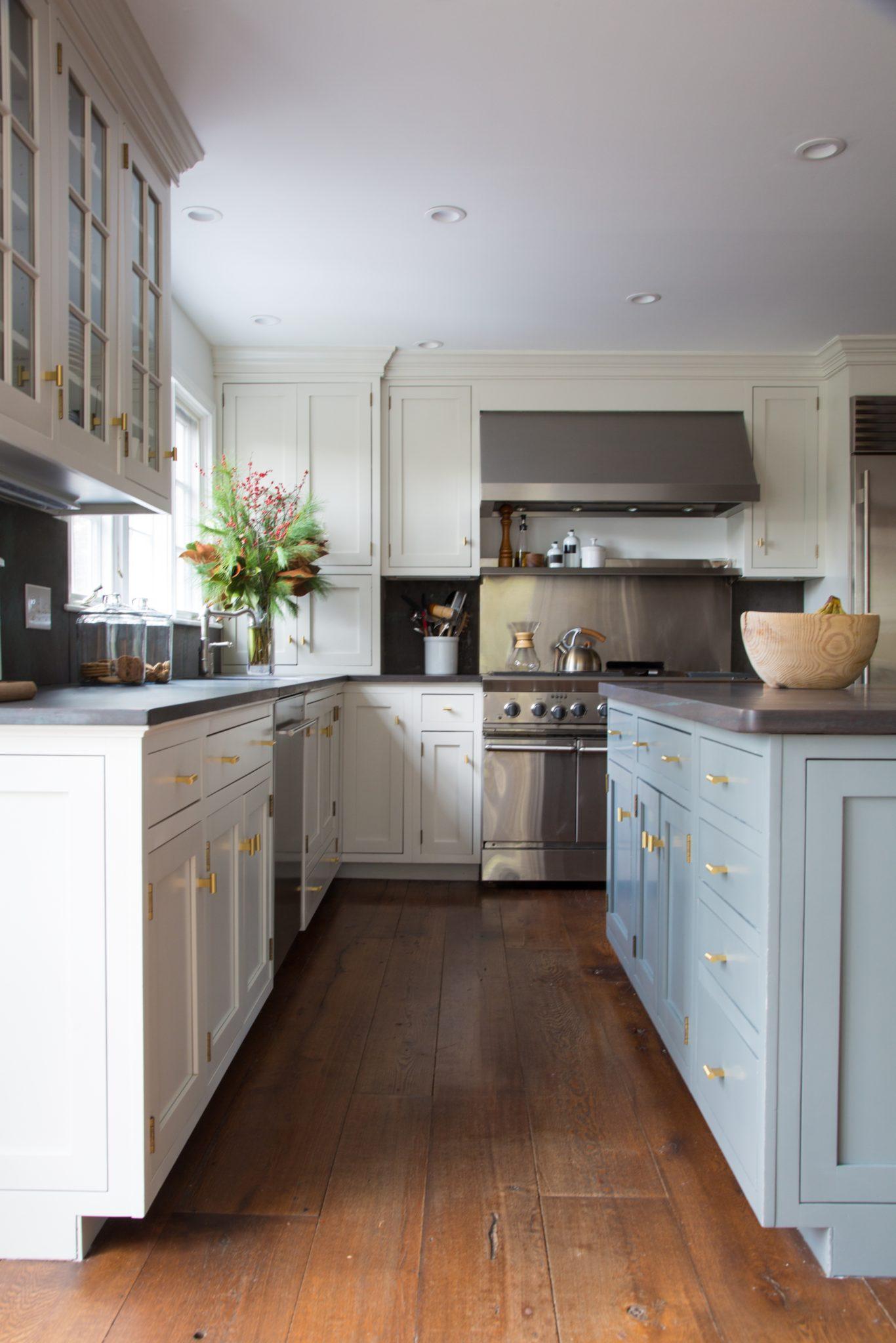 Modern farmhouse two-tone kitchen by Lauren A Balkan Designs