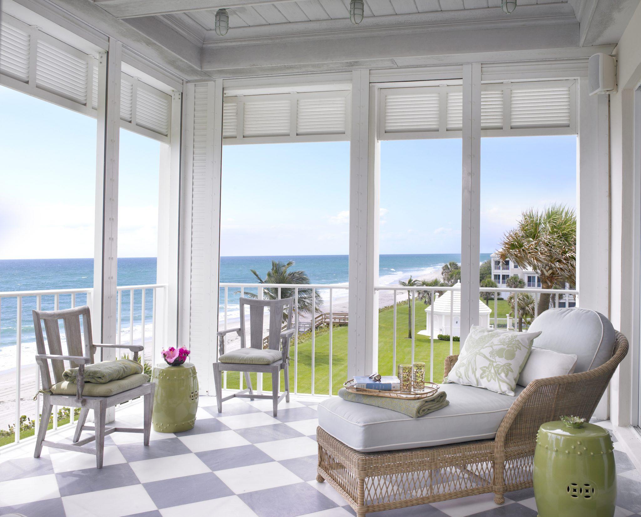 Outdoor sitting room by Jennifer Garrigues Interior Design
