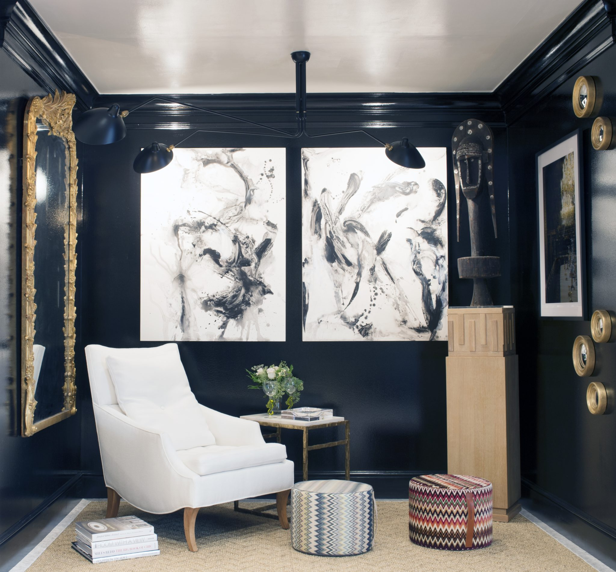 A sophisticated vignette by Lynne Scalo Designs