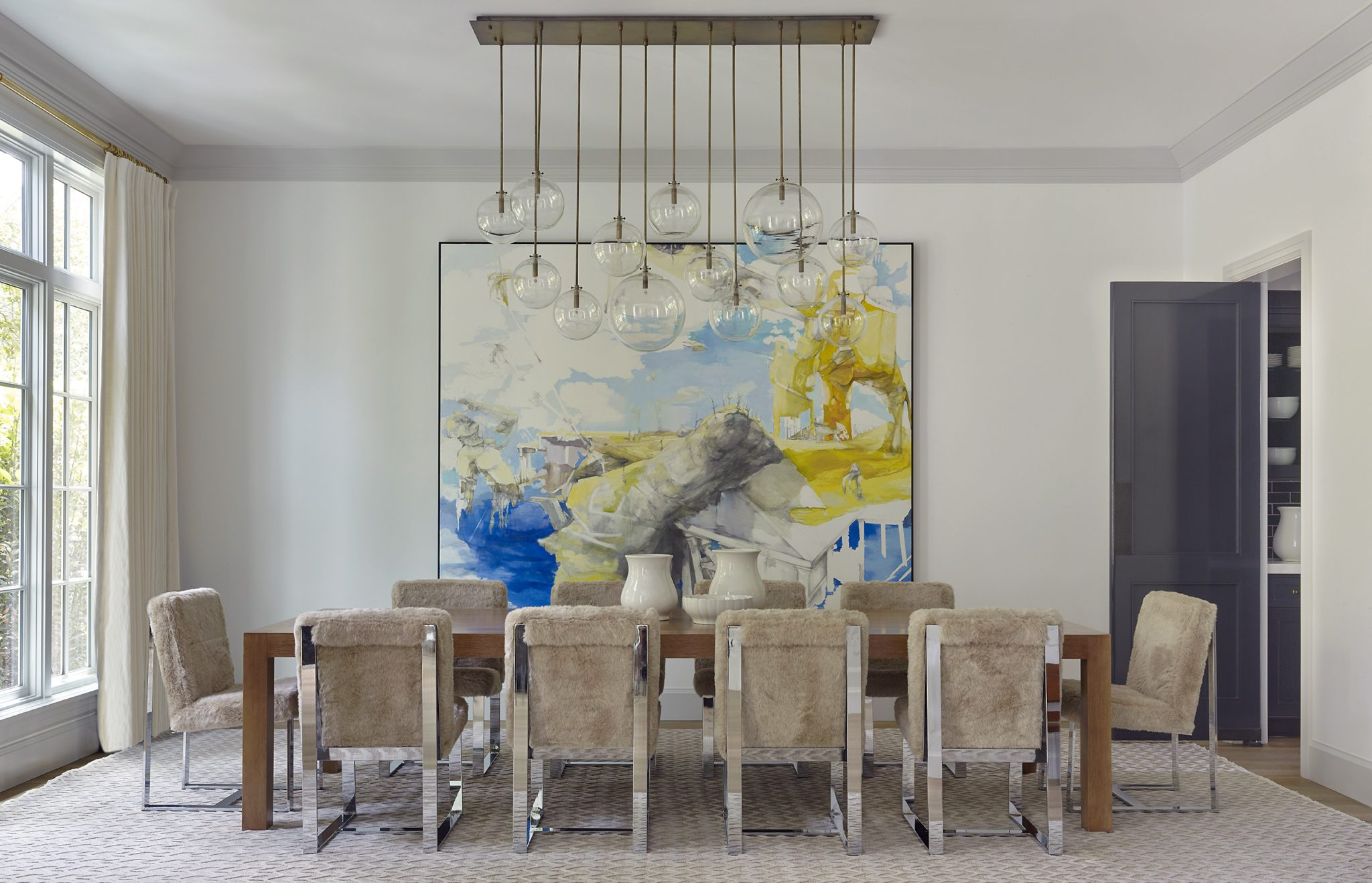 Pacific Palisades Dining Room by Dan Scotti Design