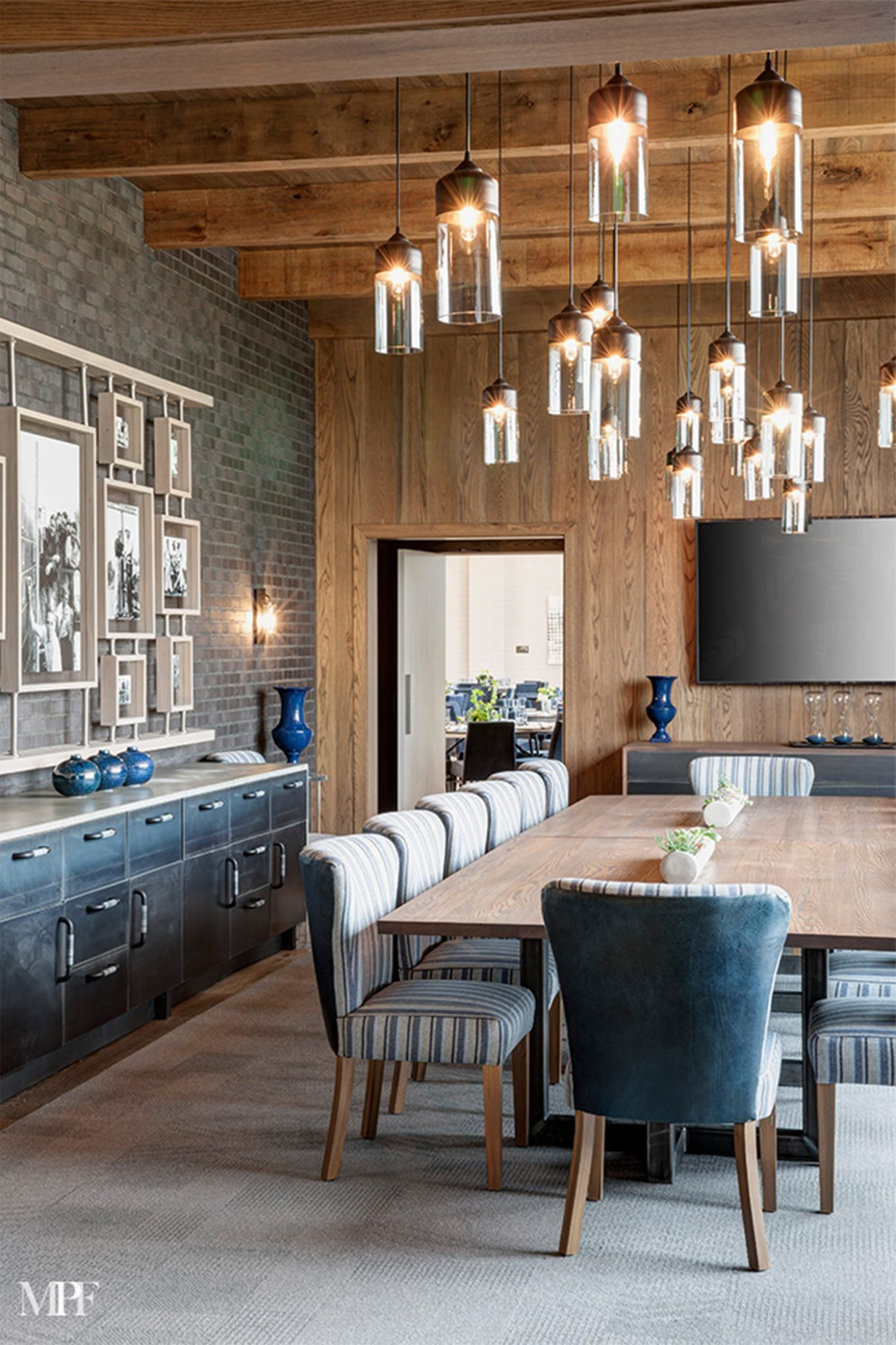 Trinity Forest Golf Club Private Dining Room by Mark P. Finlay Interiors