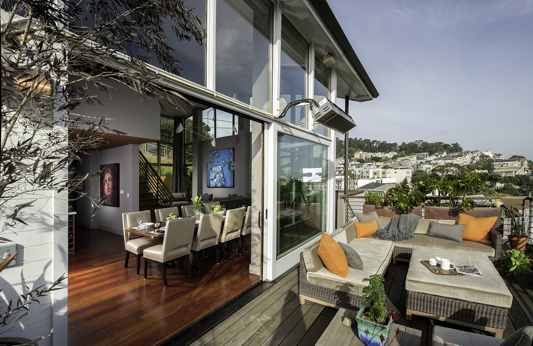 Patio featuring interior design by Fredman Design Group