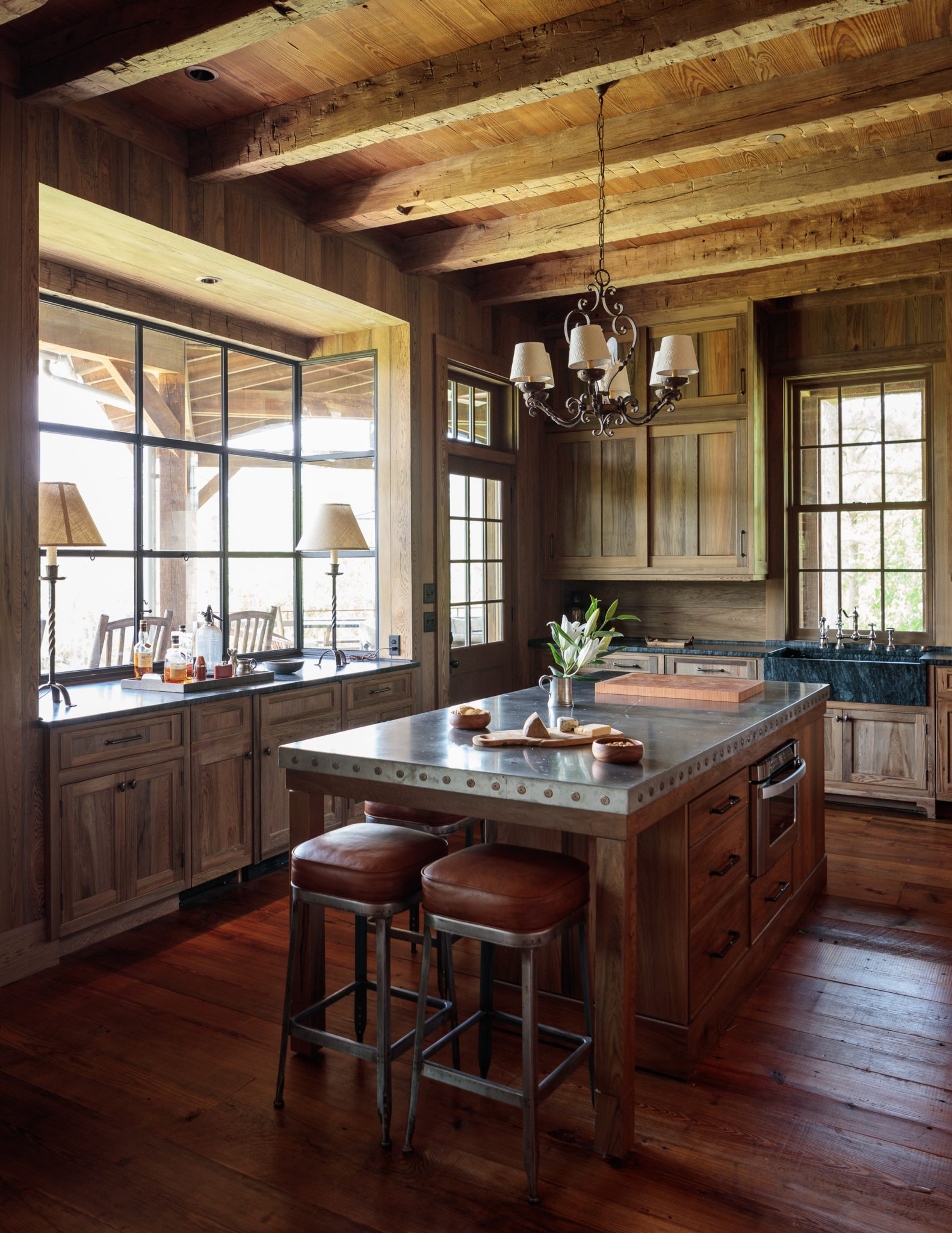 South Carolina Hunting Lodge Kitchen by The Design Atelier