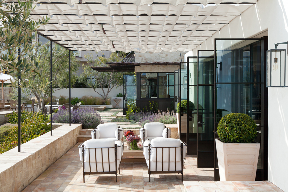 Outdoor entertaining space by M. Elle Design
