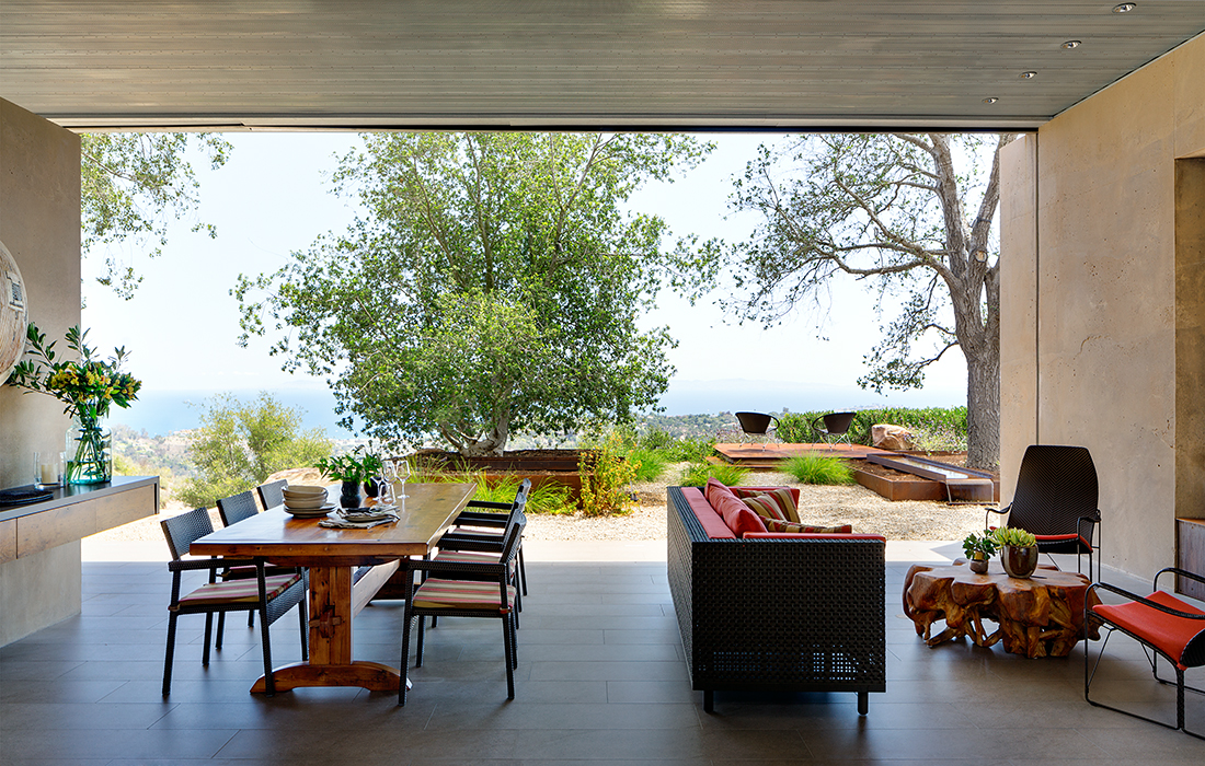 Outdoor living with a view by Sarah Walker Design Associates