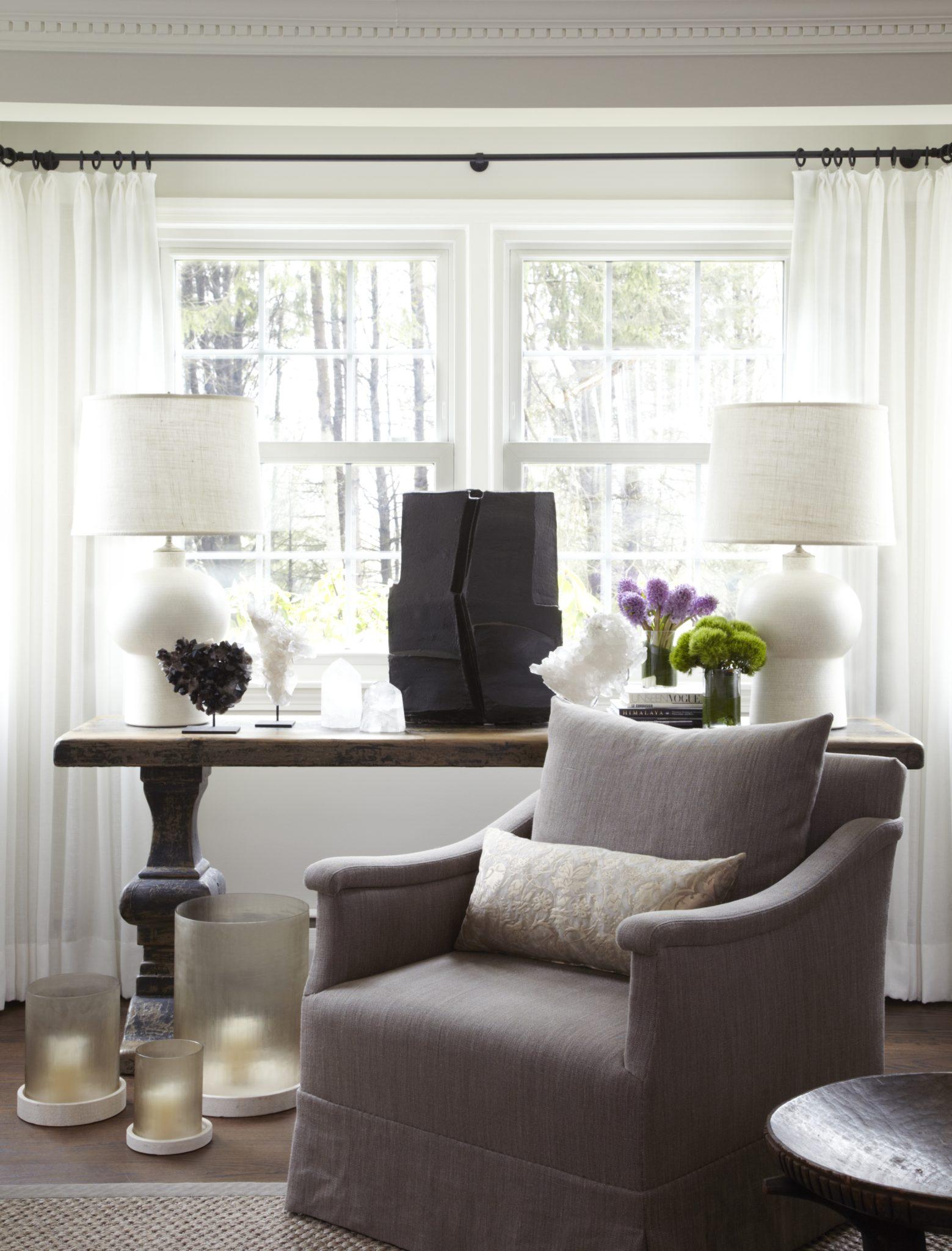 Connecticut residence - living room by Bennett Leifer Interiors