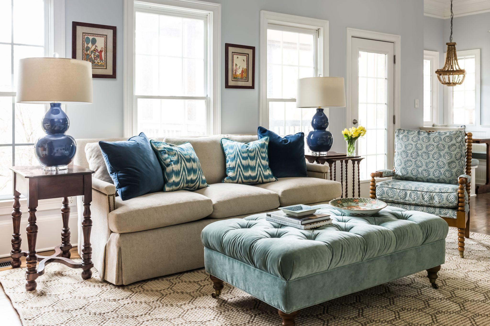Five Points family room by Alexa Stevenson Interior Decoration