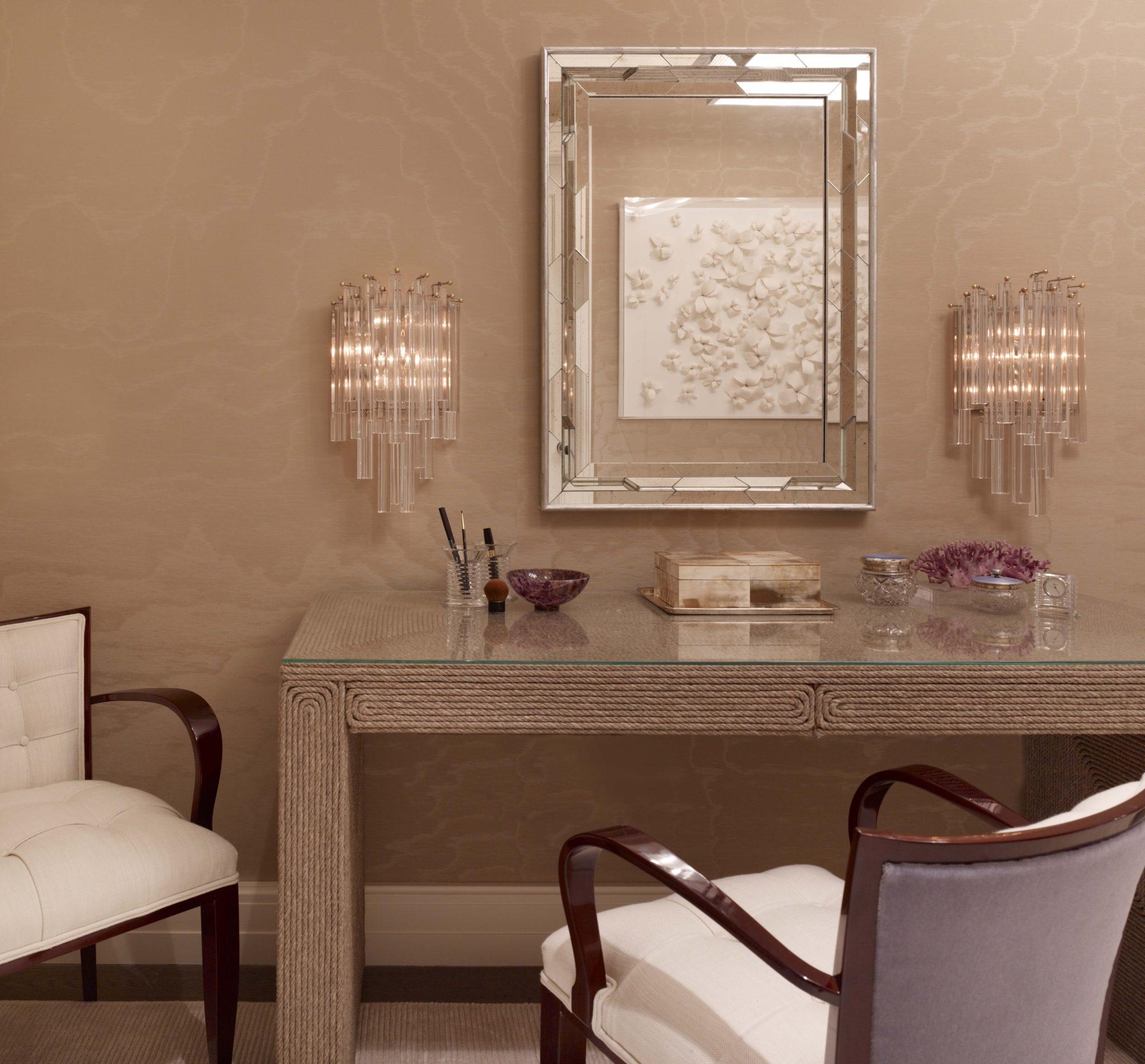Bridgehampton Residence, Master Dressing Table by Stephens Design Group