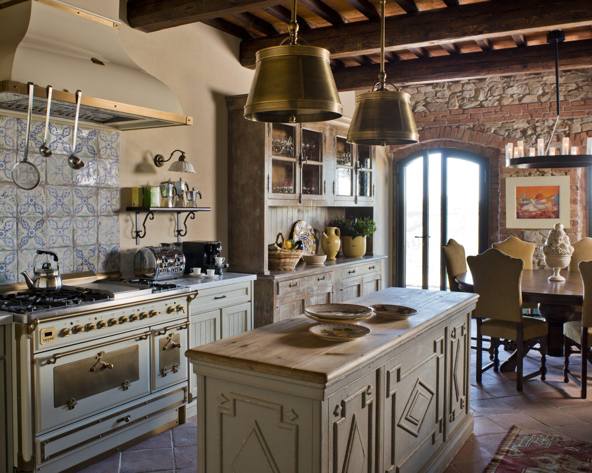 Italian Farmhouse Kitchen in Tuscany by J Banks Design