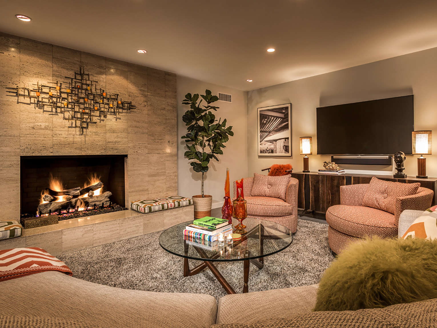 Palm Springs living room by Grace Home Furnishings