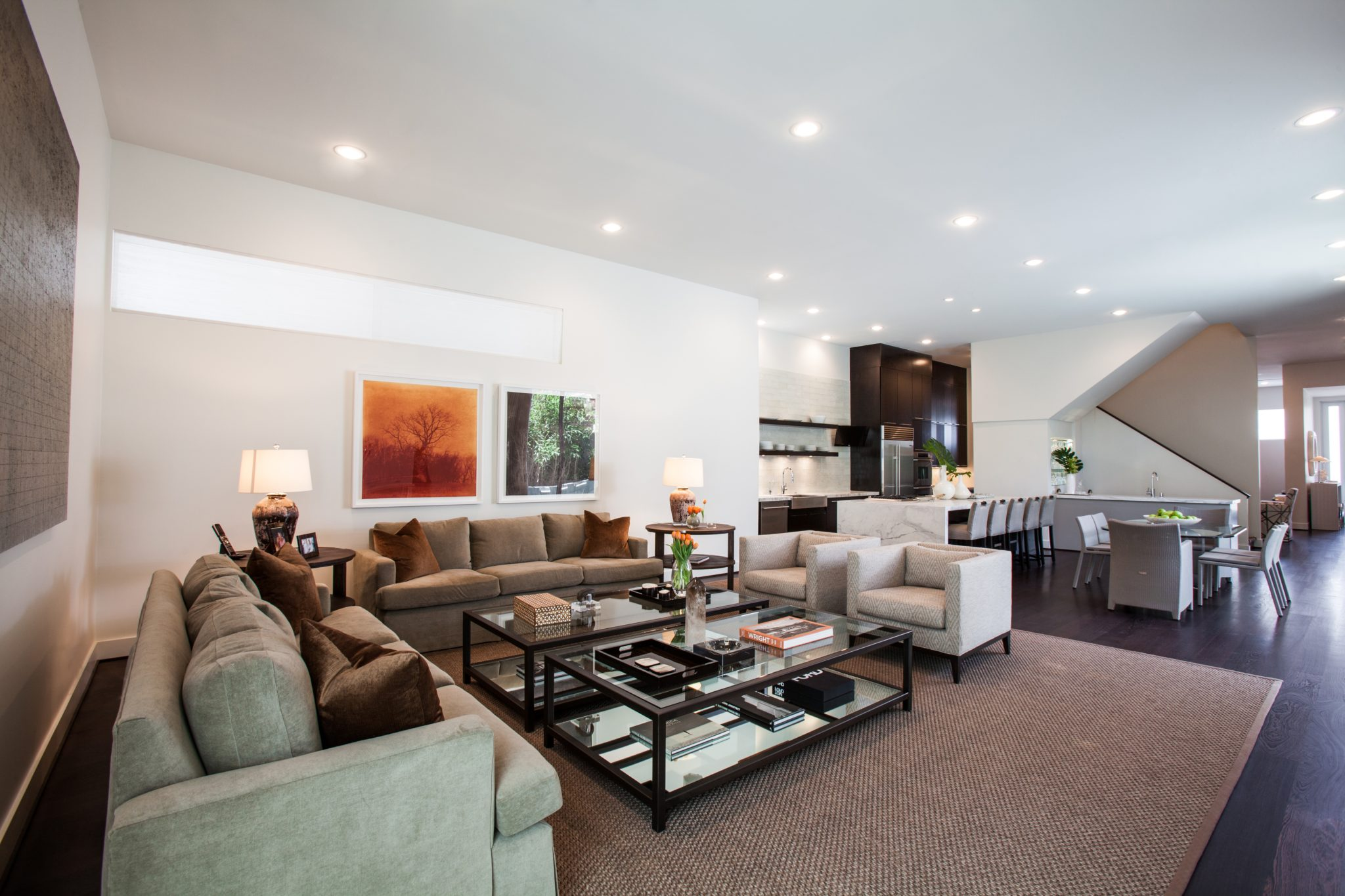 Modern living room by Chandos Interiors