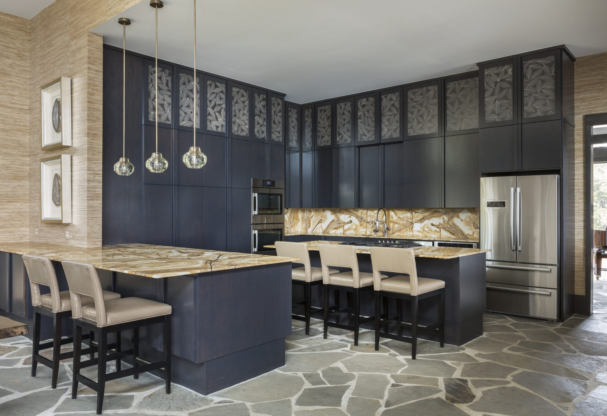 Kitchen in great room by Goddard Design Group