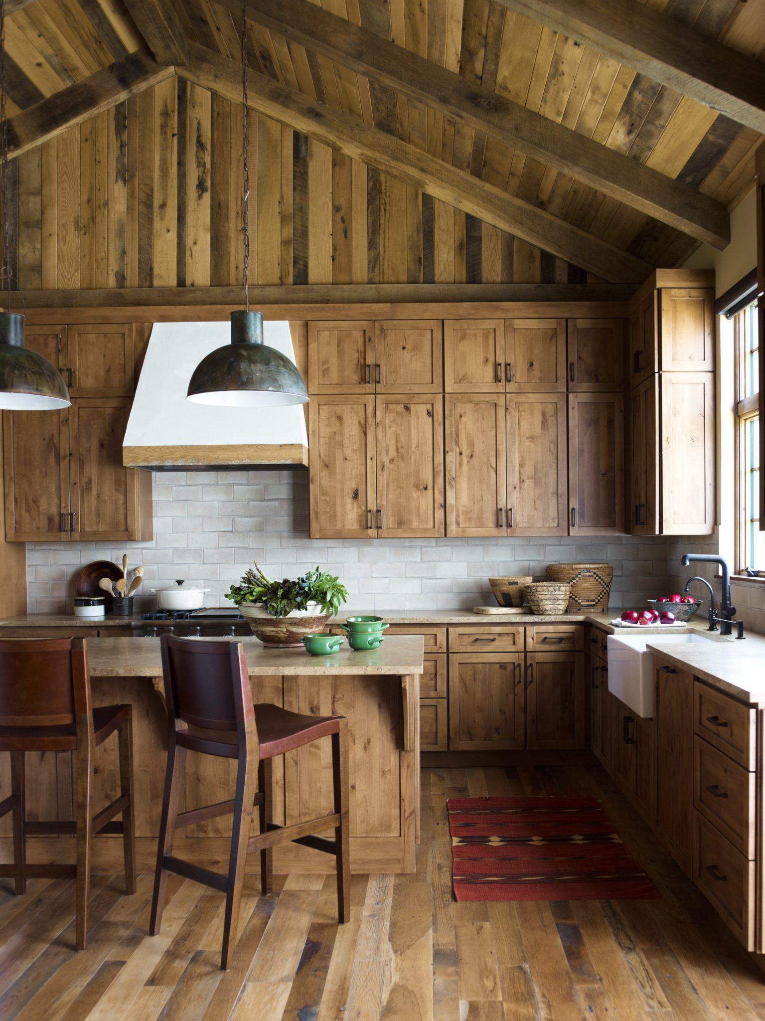 Rustic Montana Retreat - Kitchen by Kylee Shintaffer