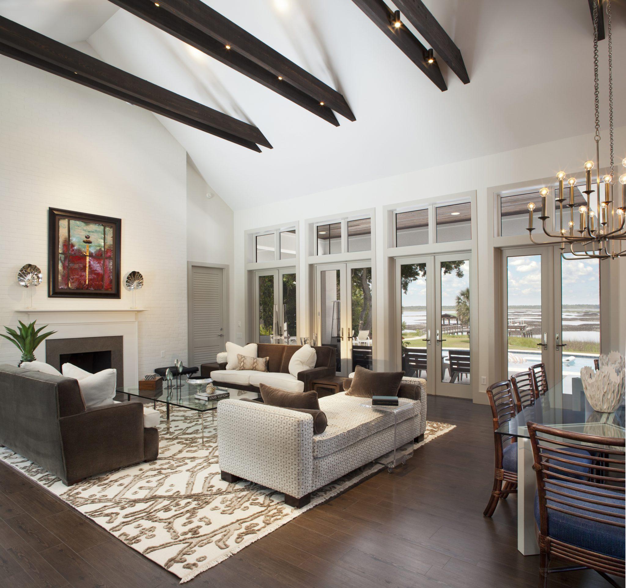 Classic contemporary living room by Amanda Webster Design, Inc.
