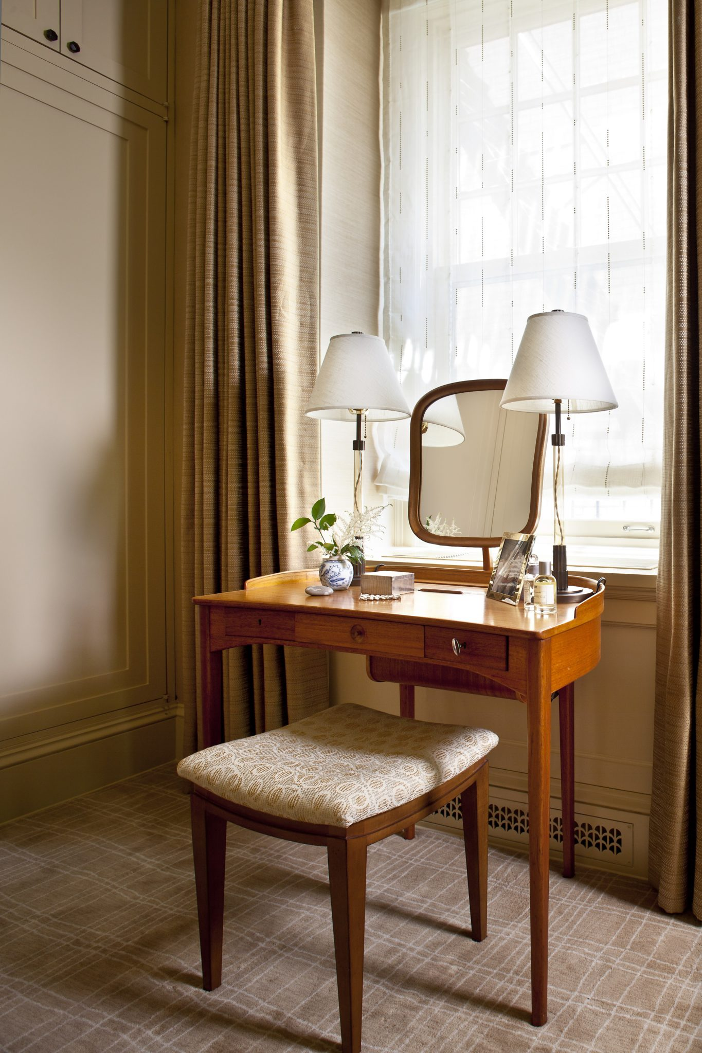 Woman's Dressing Room in a fine pre-war apartment in NYC by Glenn Gissler