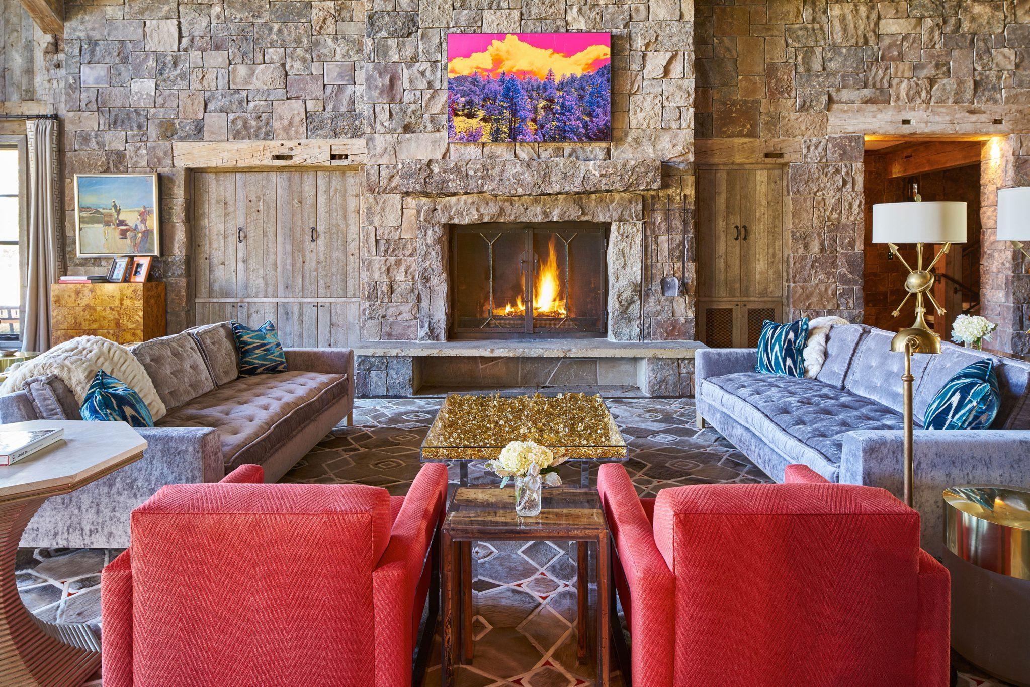 Interior design by Johnson Sokol Interior Design, featuring Da Bomb sofas by Richard Shemtov