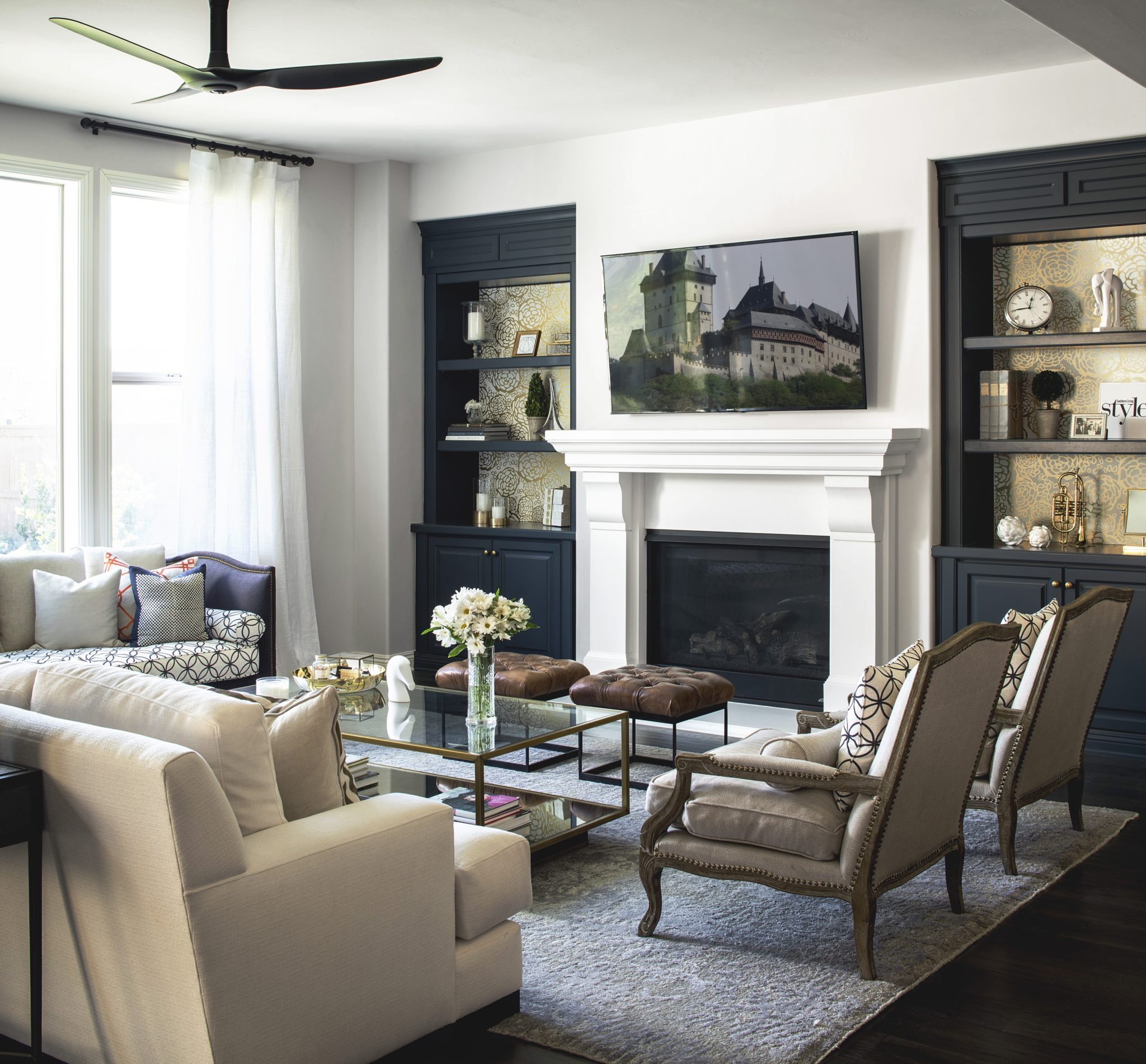 A French-inspired living room by CM Natural Designs