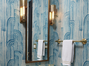 Chic Powder Rooms in Blue Hues