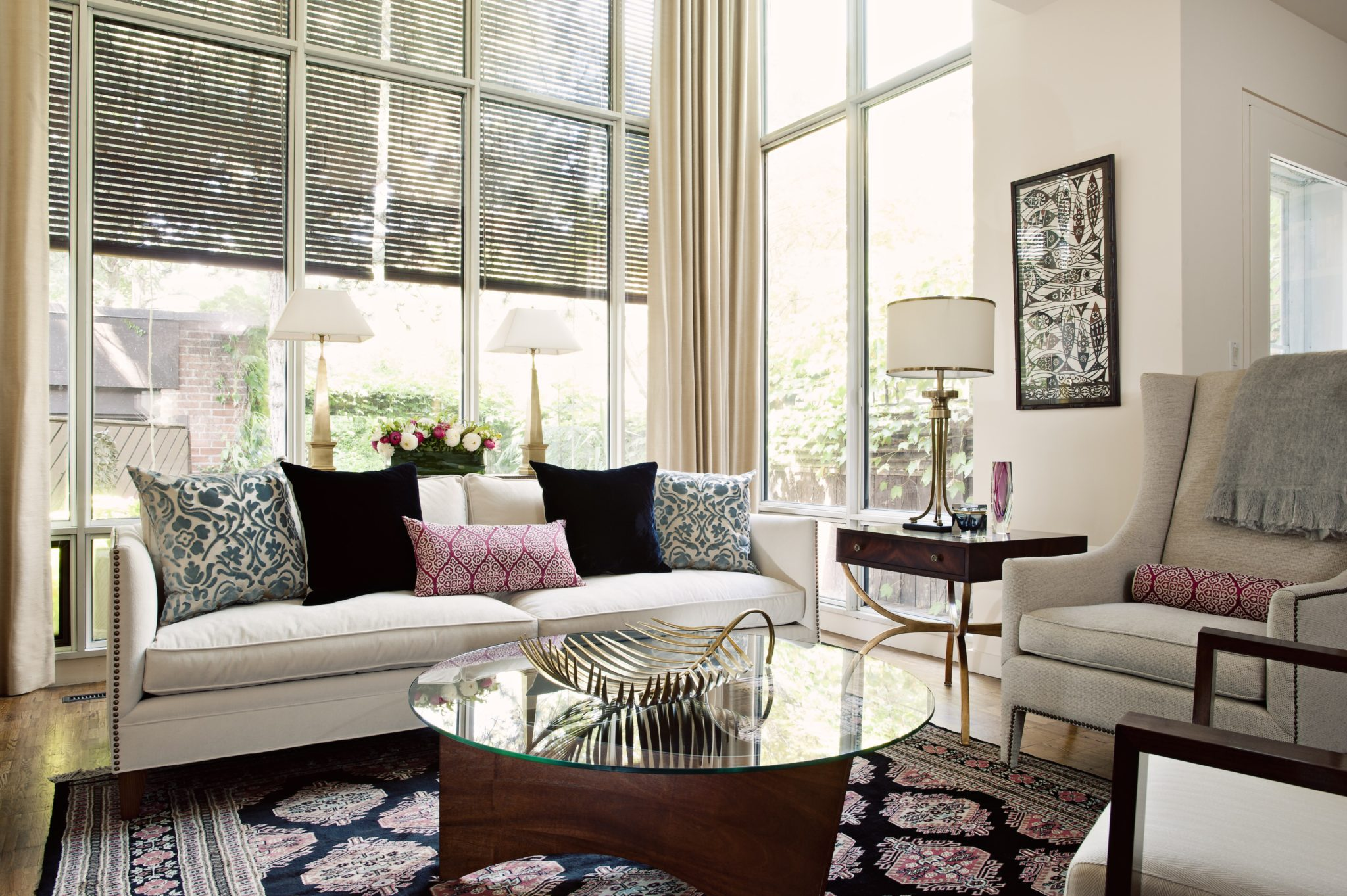 Rosedale living room by Laura Stein Interiors