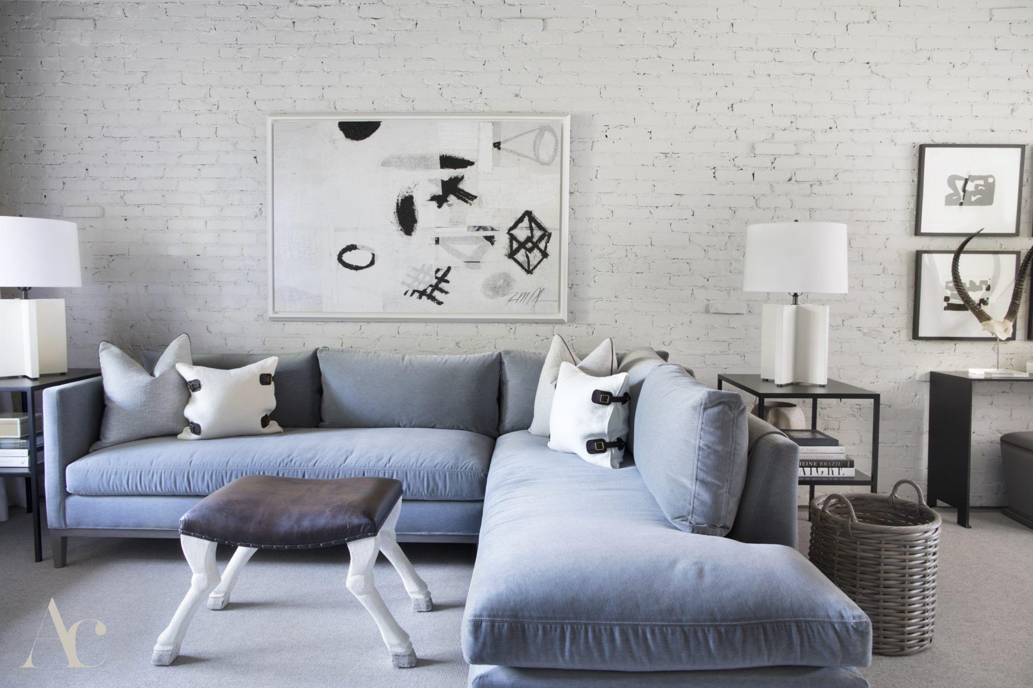Row house remodel in Birmingham, Alabama, by Amanda Cooper Interiors