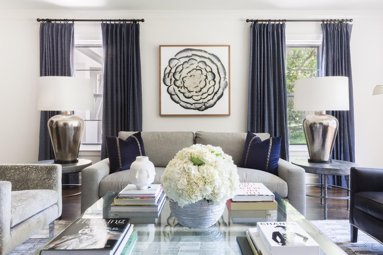 Midtown modern living room ©Alyssa Rosenheck by Austin Bean Design Studio