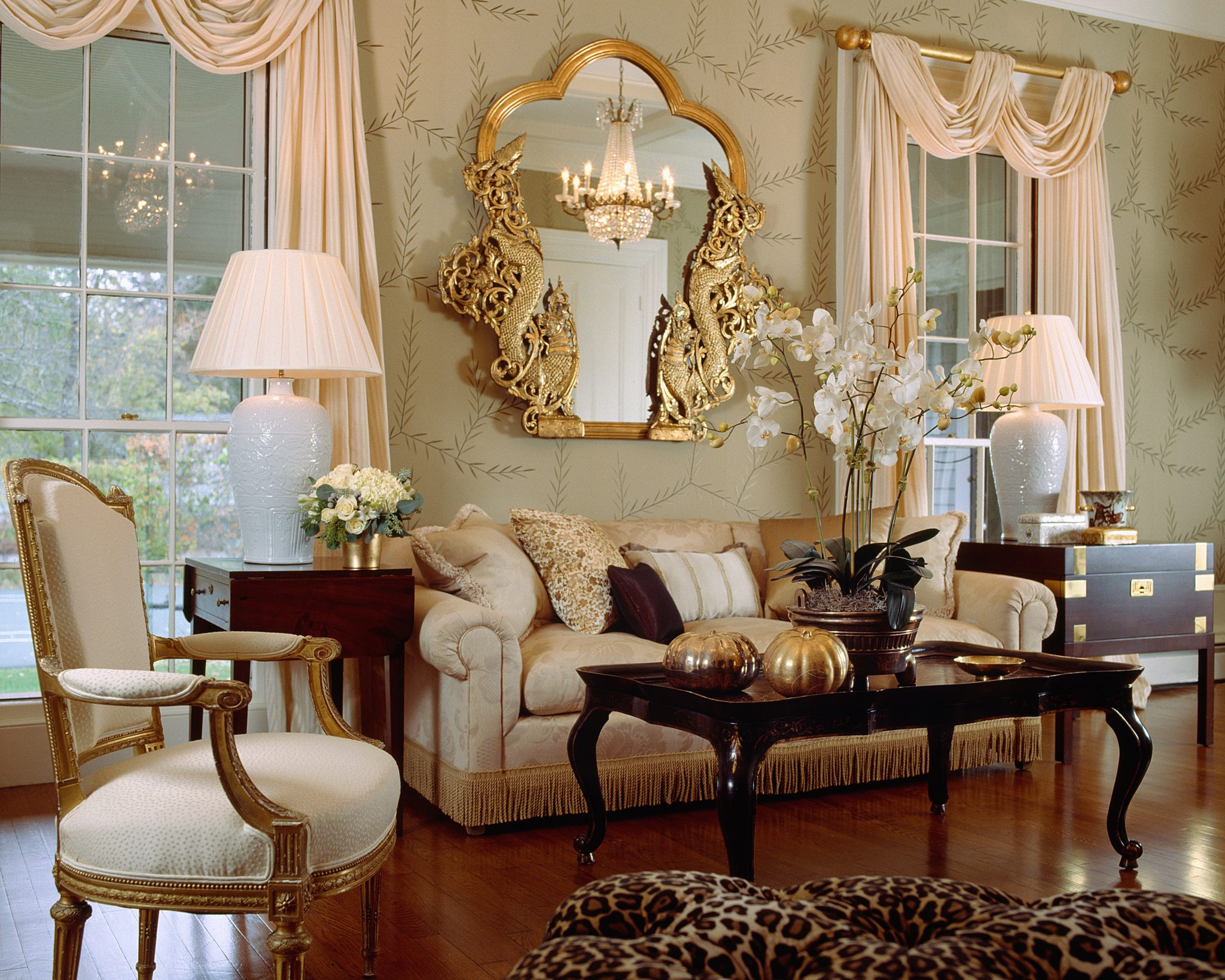 Country estate - formal living roomby Santopietro Interiors