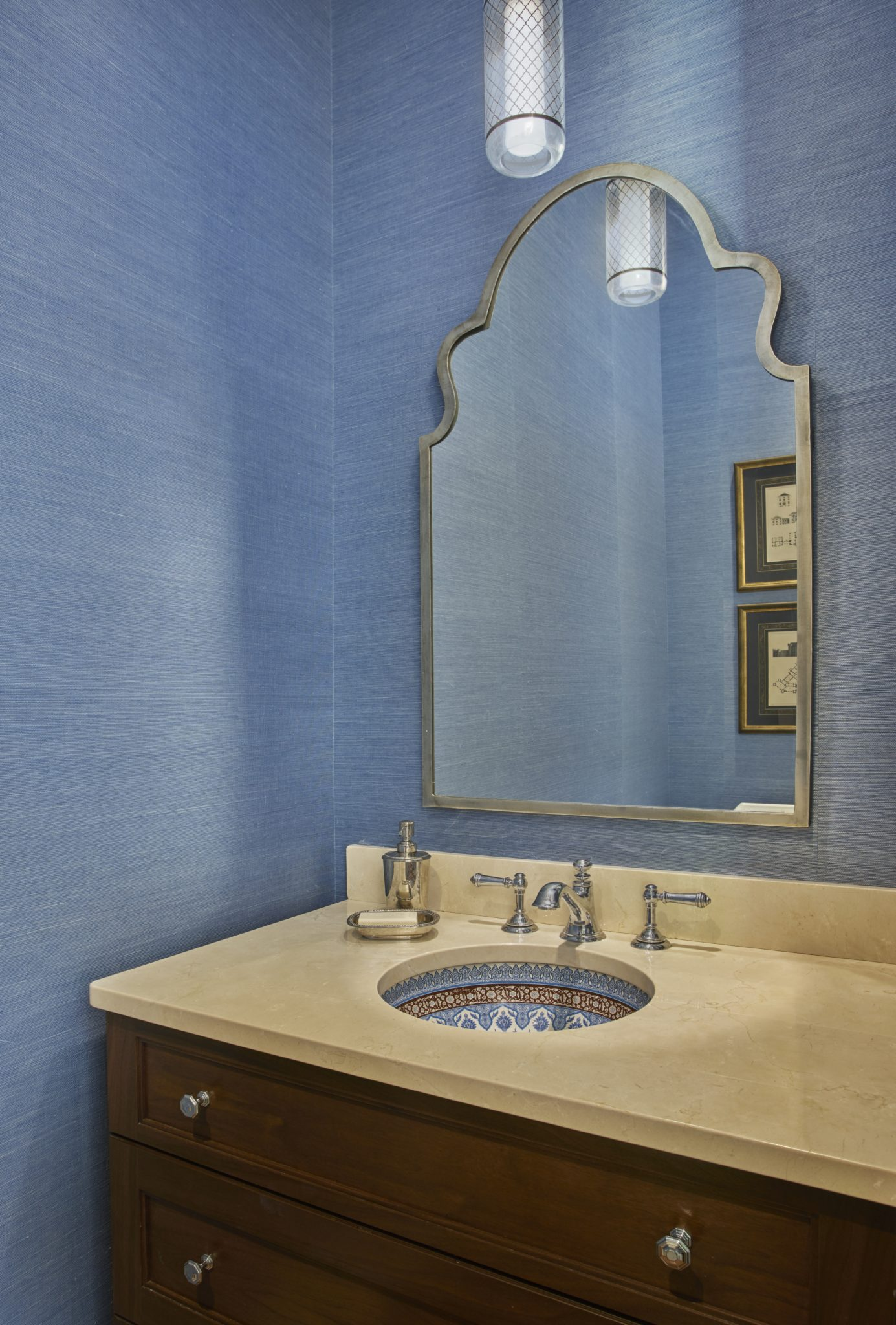 City Residence Powder Room by studio m interiors - Claudia Martin