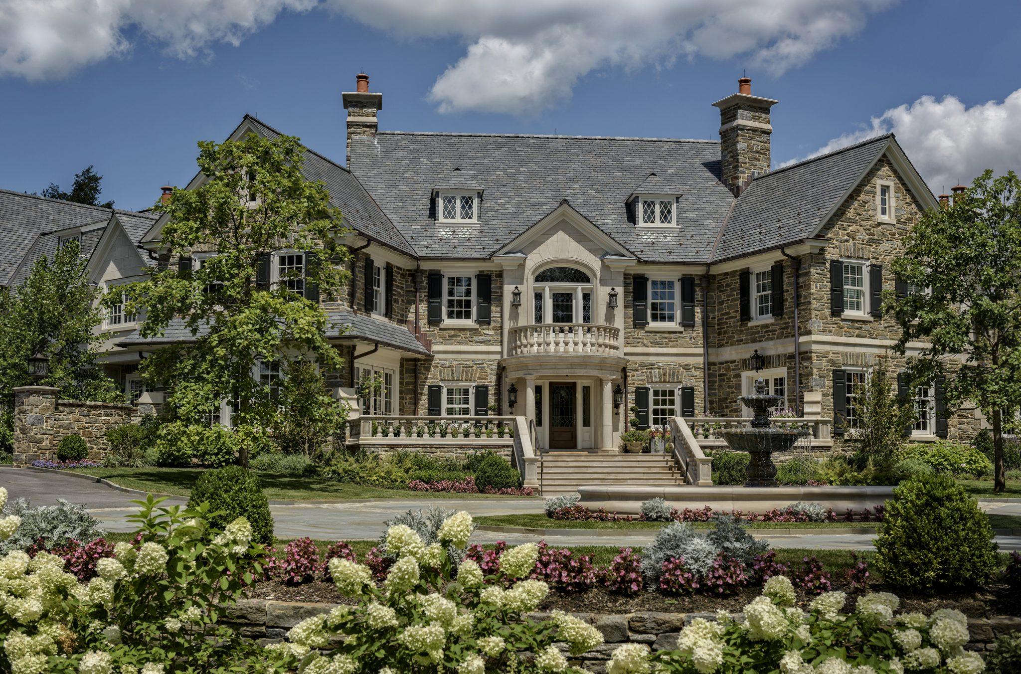 Merion Residence, Main Entry and Forecourt by Archer & Buchanan Architecture