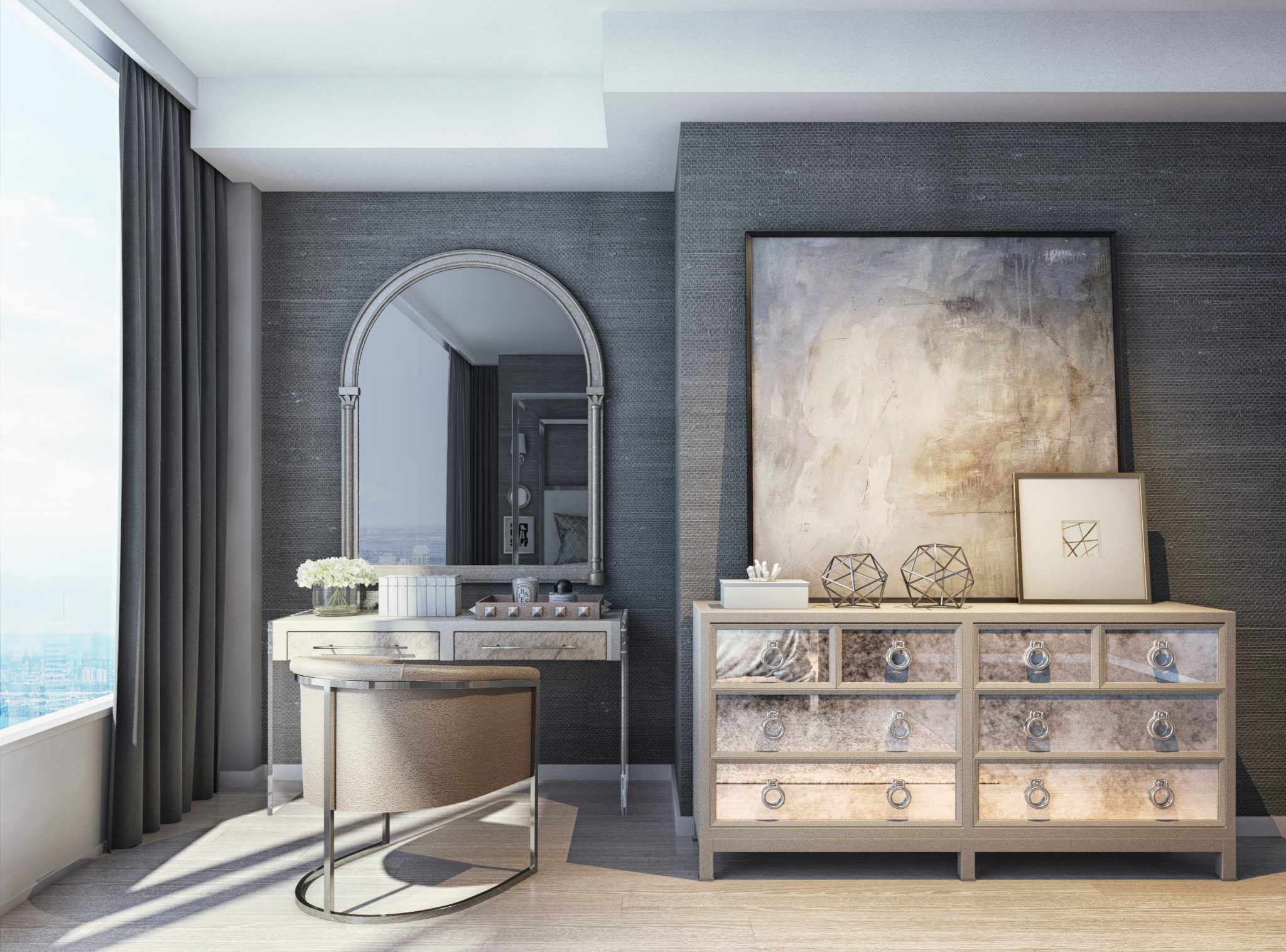 35 Glamorous Bedroom Vanities Chairish Blog