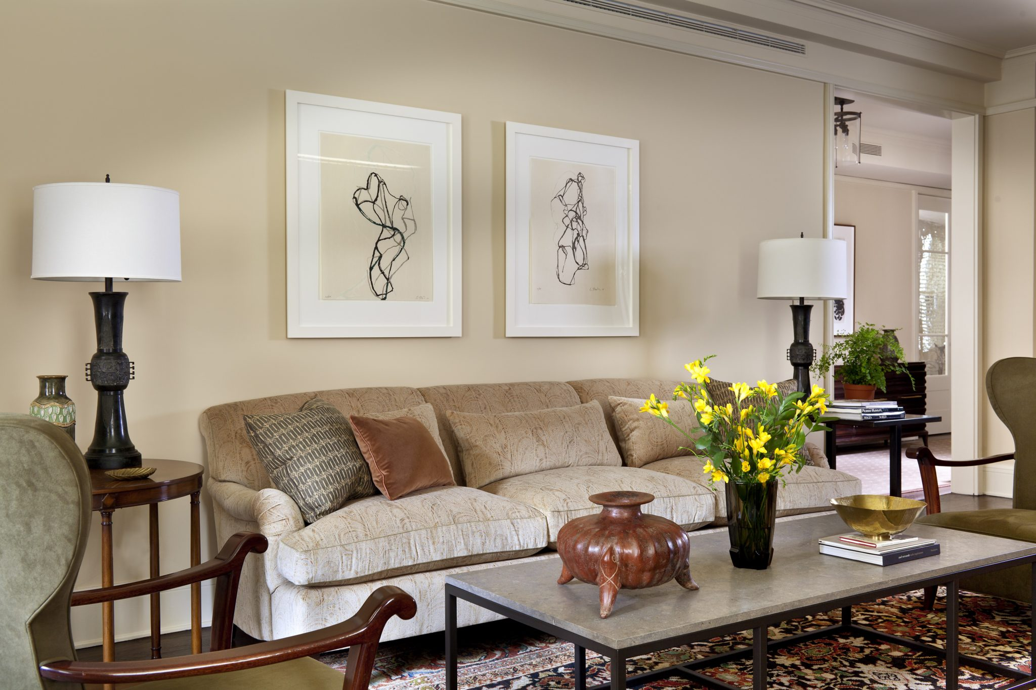 Understated living room in New York City by Glenn Gissler