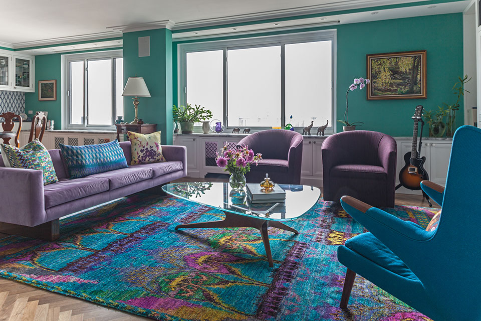 """Mistake #5: Not Using Accent Colors for Balance. """"When painting a room a bright color, offset it with a complementary color so the bright one is not too dominant. For instance, if your walls are bright orange, use accents of teal. If your room is light purple, use green in the room to create balance."""" - Kati Curtis, Kati Curtis Design  Follow Kati Curtis Design to be kept up to date on their latest products, projects and announcements."""