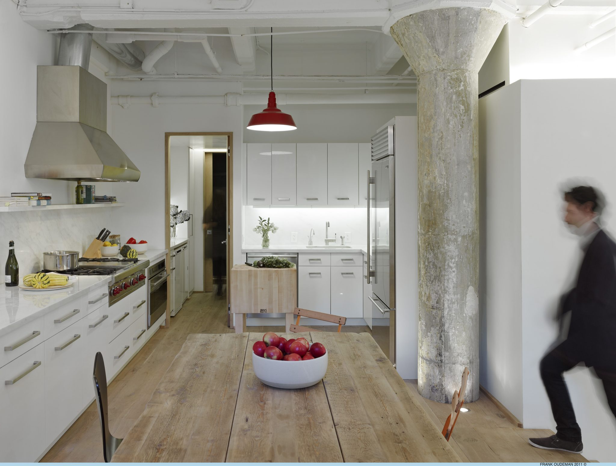 Perry Street Loft, View of Kitchen by De-Spec
