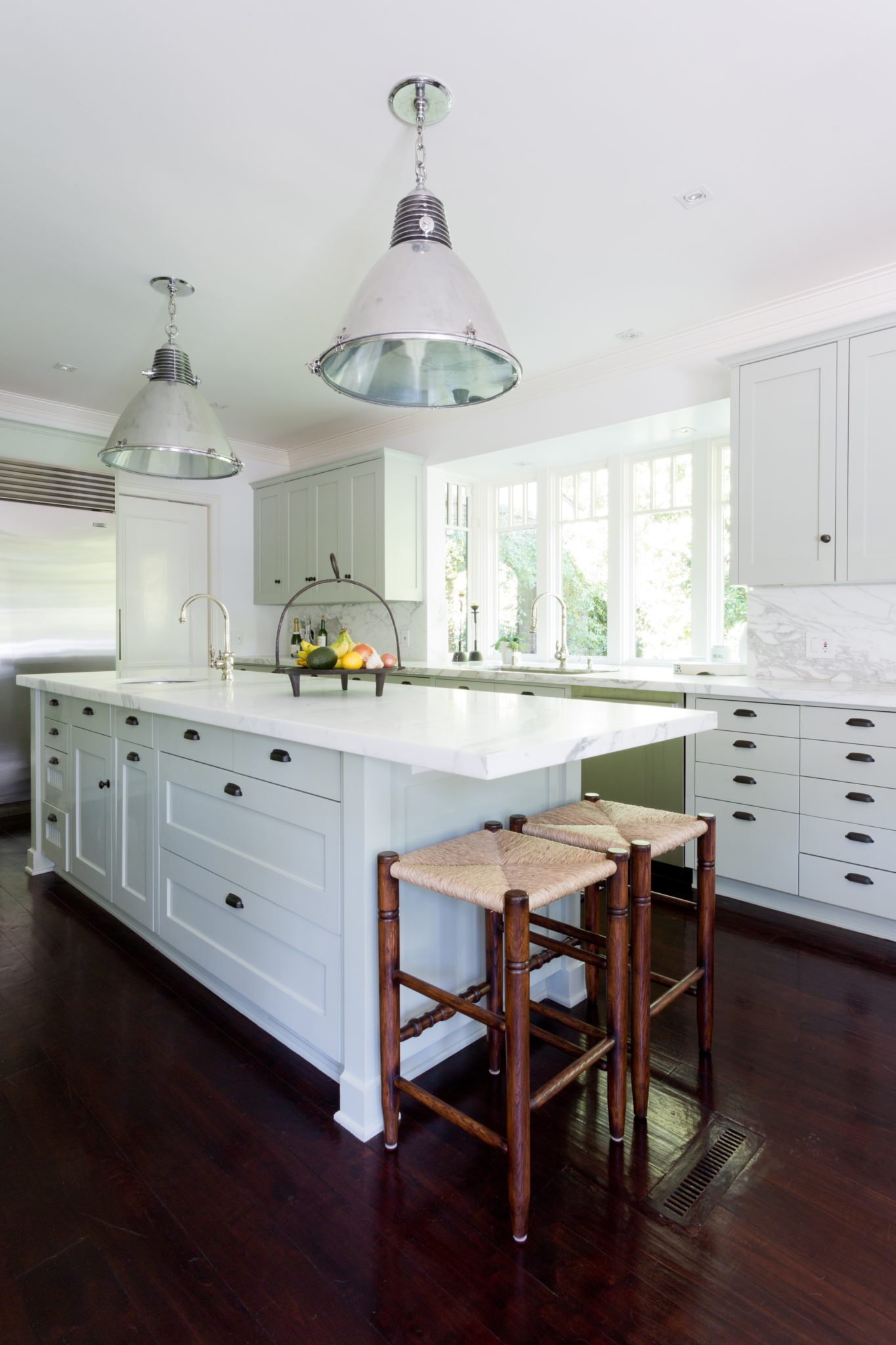 Kitchen Island with Hanging Fixtures by Paul Brant Williger, Architect Inc.