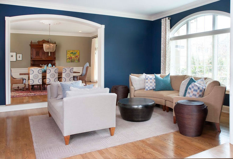 """6. Not Supporting the Color in Other Areas of the Room. """"Establish the relationship between all items in a space, and then prioritize which story should be told the loudest. This ensures that no matter how bold or dramatic the color on the wall is, its placement is substantiated by the supporting elements around it."""" - Nile Johnson, Nile Johnson Interior Design"""