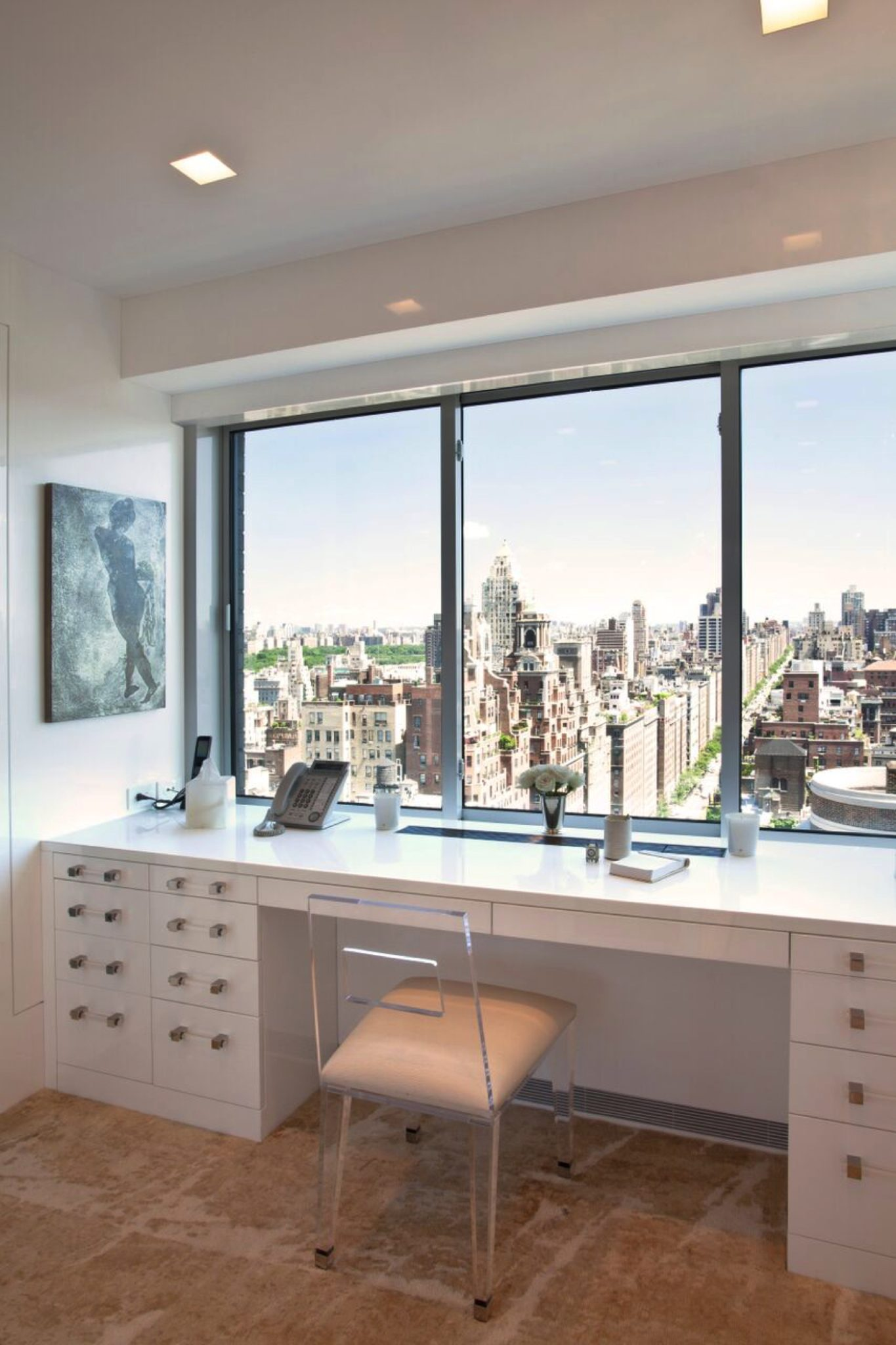 Park Avenue views from a magnificent Dressing room by clos-ette