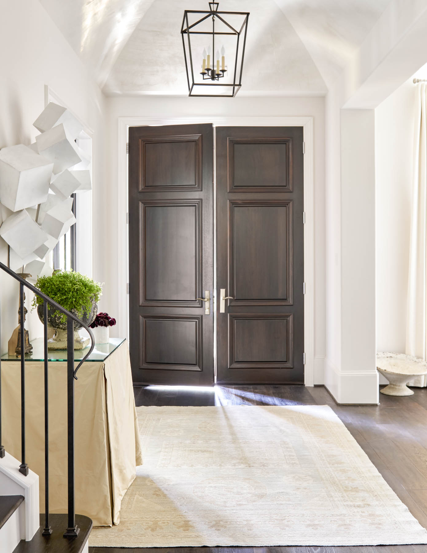 Hunter's Creek Foyer by Dodson Interiors