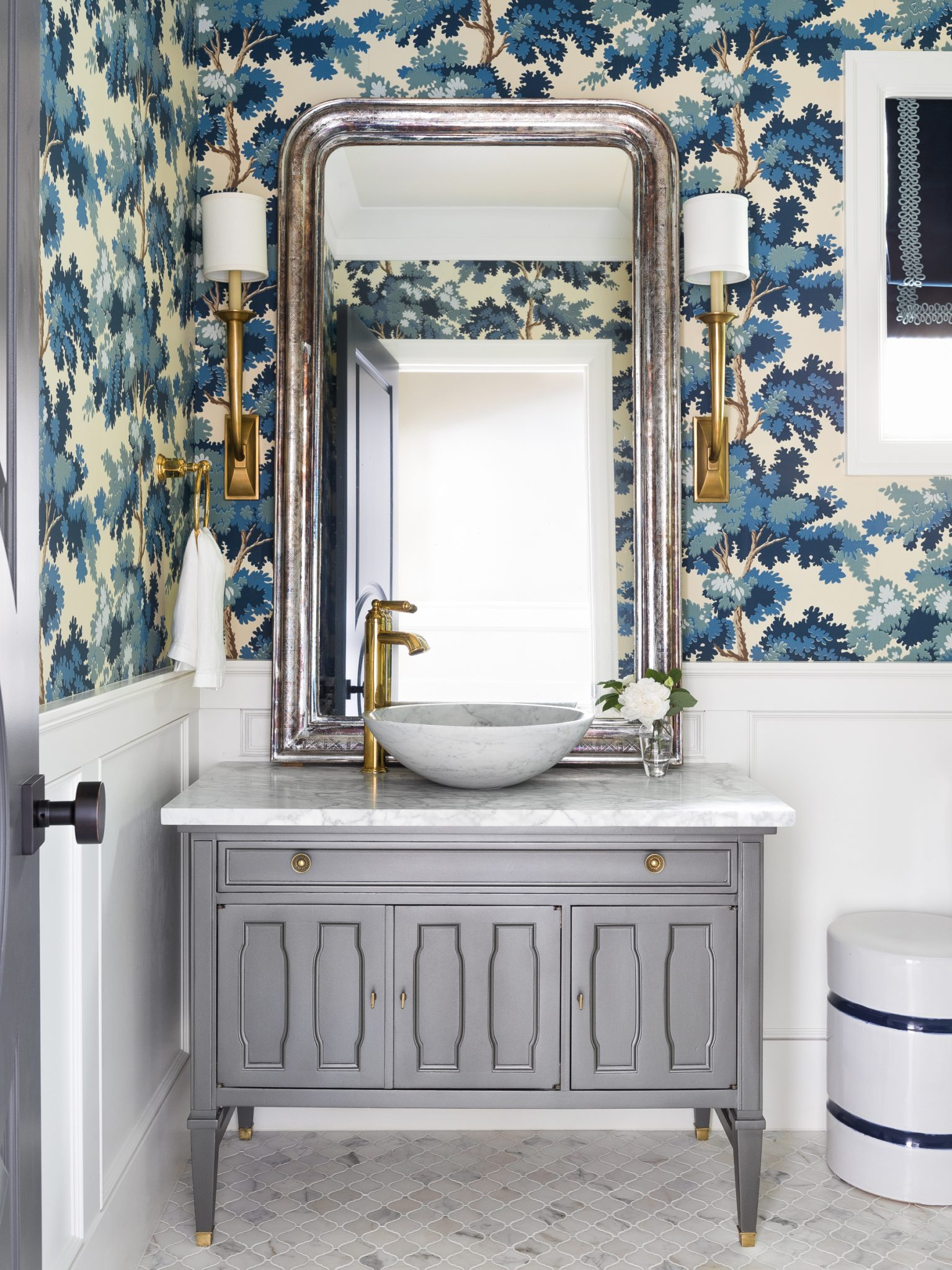 Laurelhurst Powder Room by Marianne Simon Design