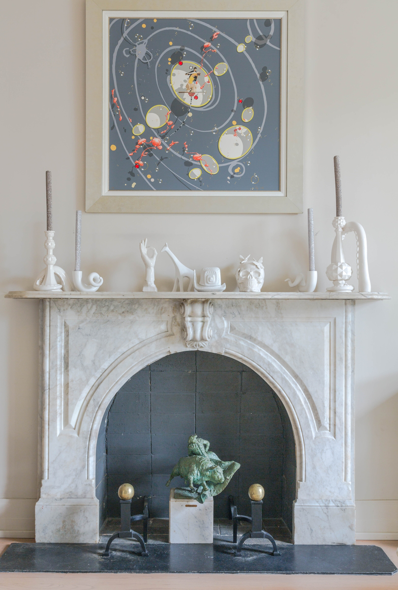 Fireplace Detail by Eclectic Home