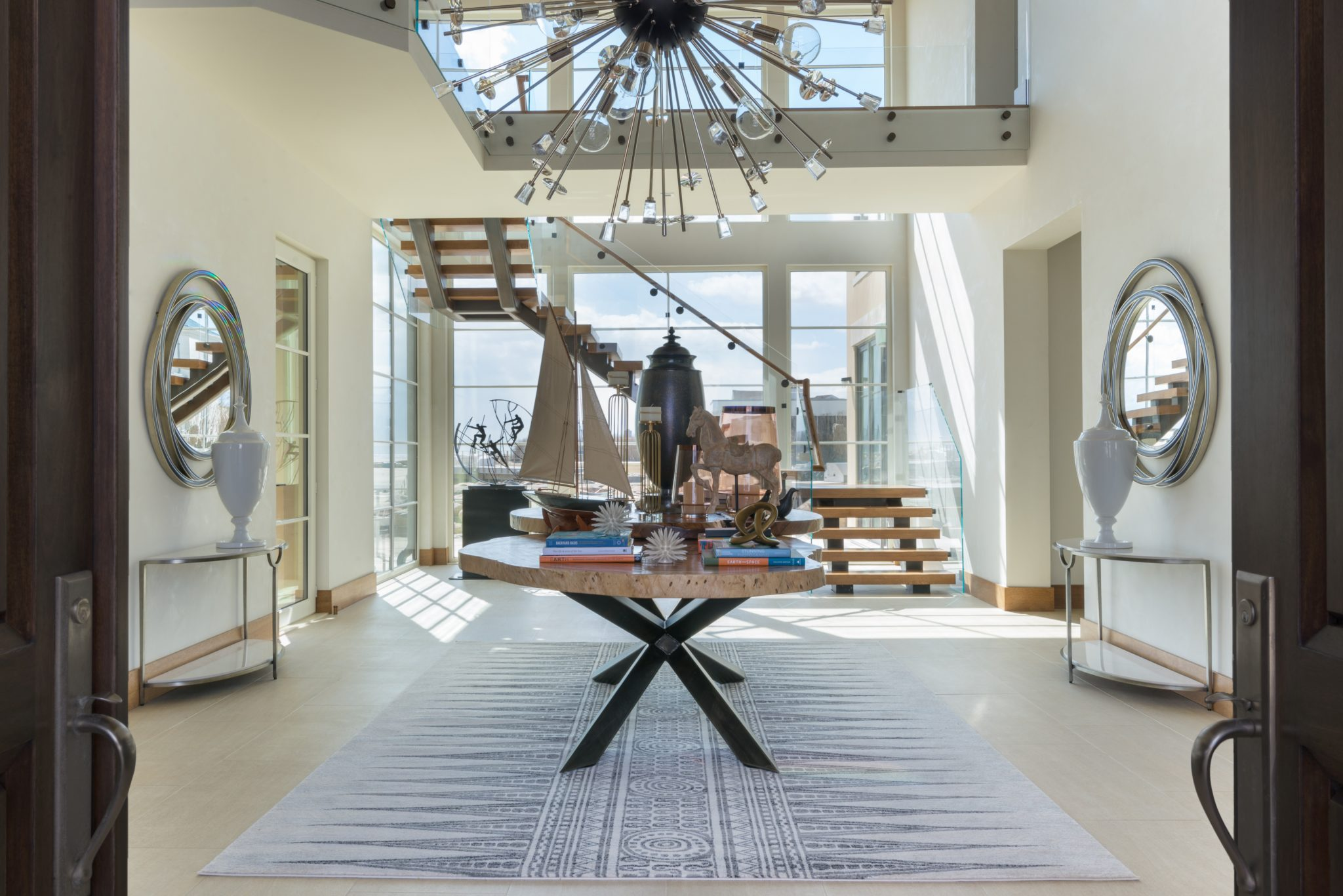 New Jersey Summer Estate: Entrance Hall by DiMare Design