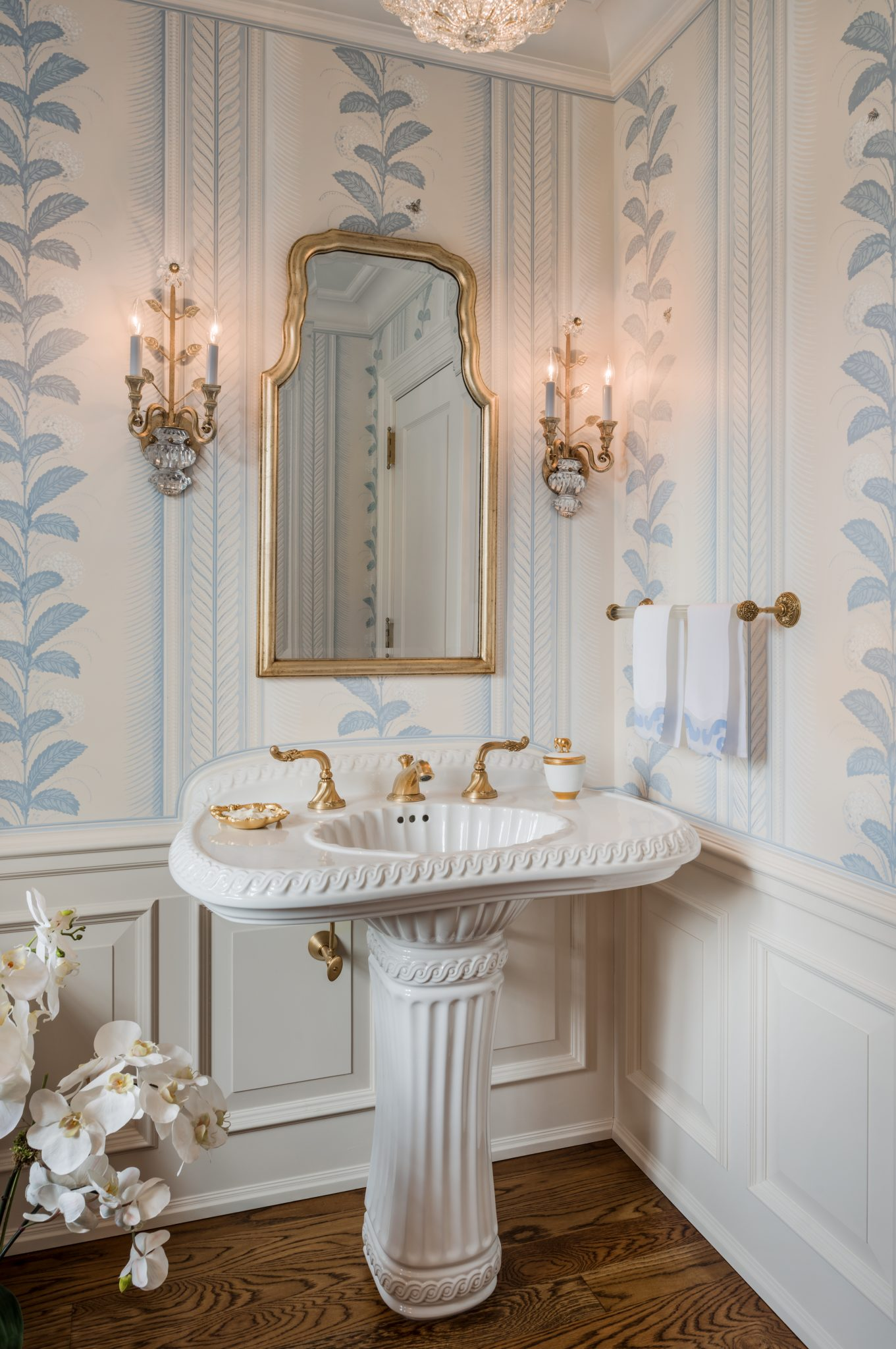 Cheswold Carriage House Powder Room by Eberlein Design