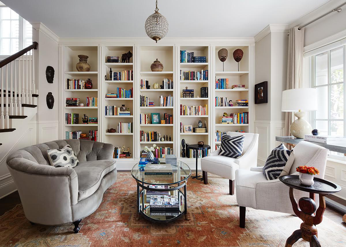 """Mistake #1: Rooms That Are Overly Coordinated  """"A room that is too carefully coordinated, with all new or store bought pieces, is very uninspiring. A home is apersonal narrative and personality should shine through. In this living room, we used items from travels and small vintage pieces to really bring the space to life.""""  Jodi Morton, of 2to5 Design"""