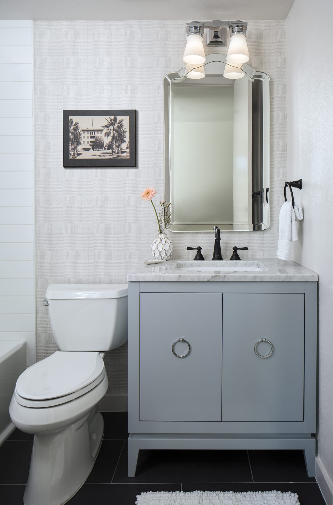 9th Ave Urban Powder Room by CM Natural Designs
