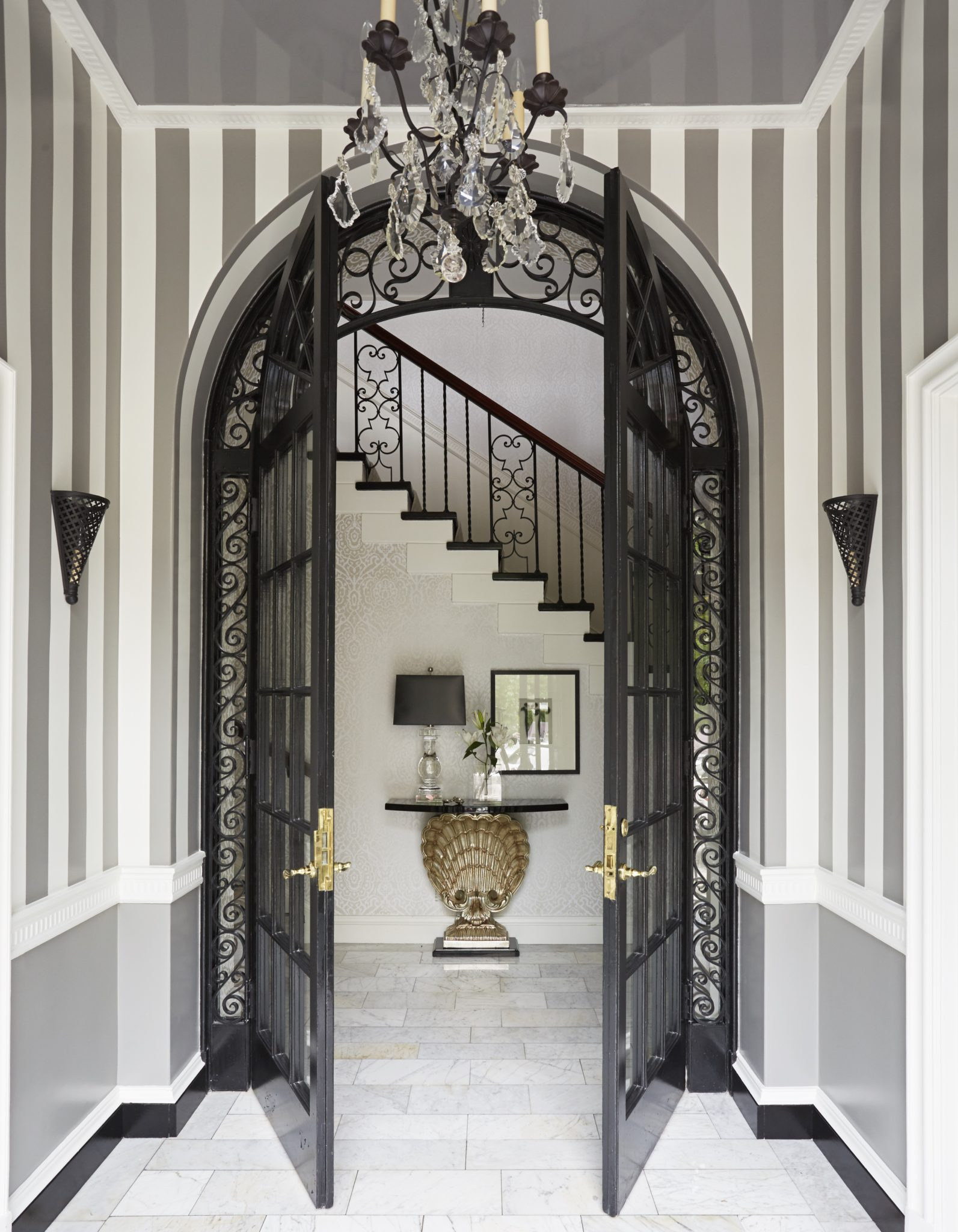 Kelley Interior Design Foyer by Kelley Proxmire, Inc.