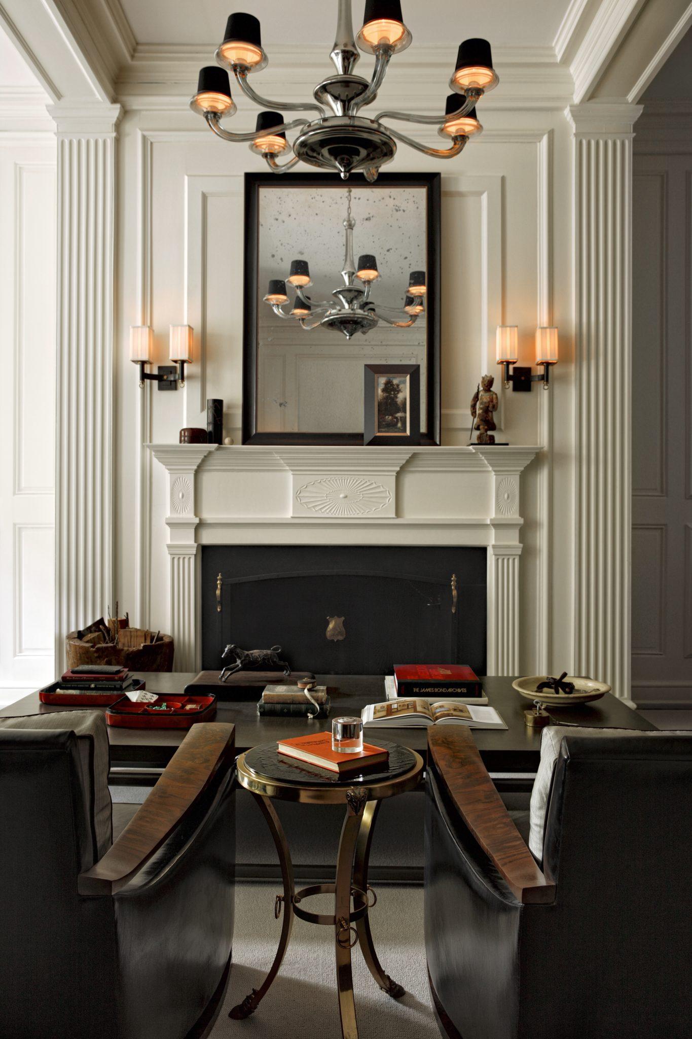 Delancey Street at Eighteenth, Living Room Fireplace Detail by Ashli Mizell